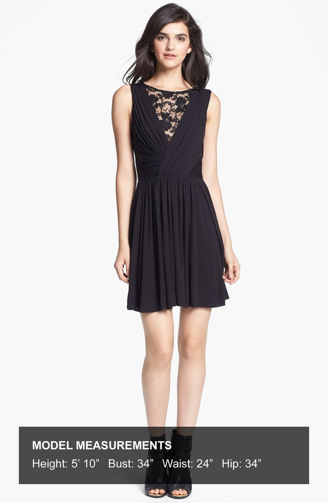 Alternate Image 4  - B44 Dressed by Bailey 44 Lace Inset Jersey Fit & Flare Dress