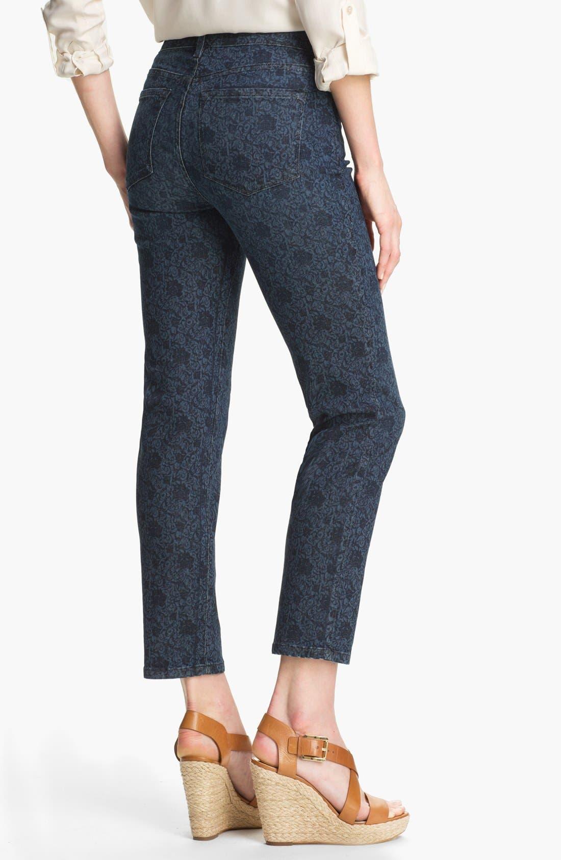 Alternate Image 2  - NYDJ 'Alisha' Print Stretch Ankle Skinny Jeans (Petite)