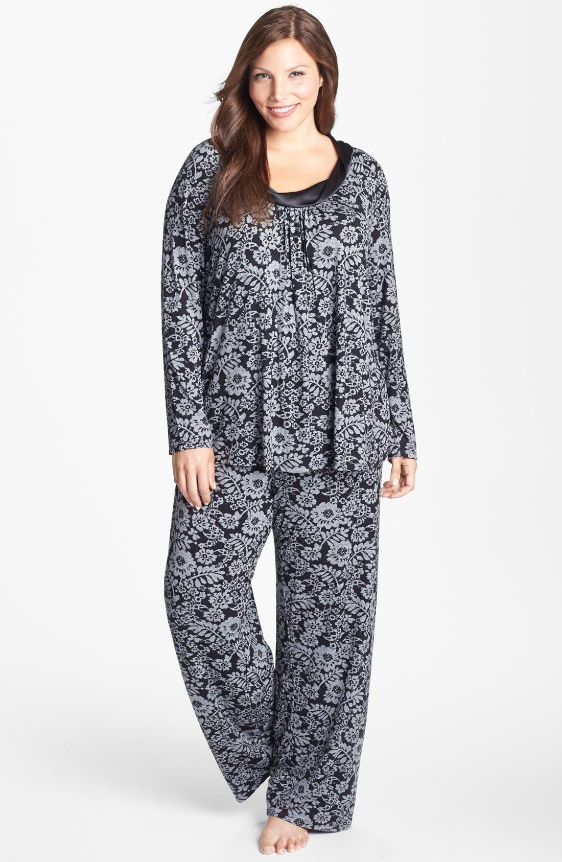 Alternate Image 1 Selected - Midnight by Carole Hochman 'Forever & Always' Pajamas (Plus Size) (Online Only)