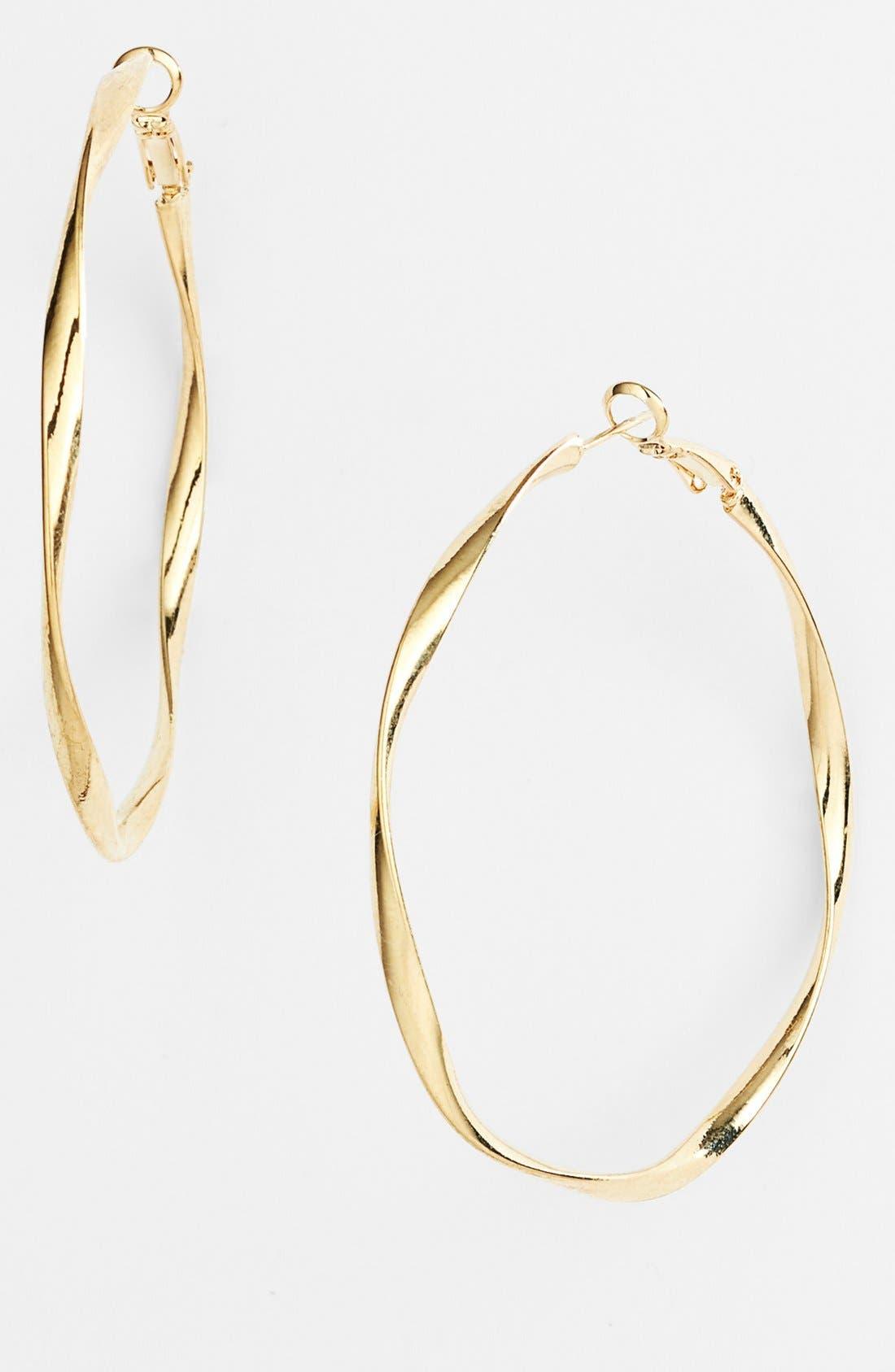 Alternate Image 1 Selected - Natasha Couture Twisted Hoop Earrings