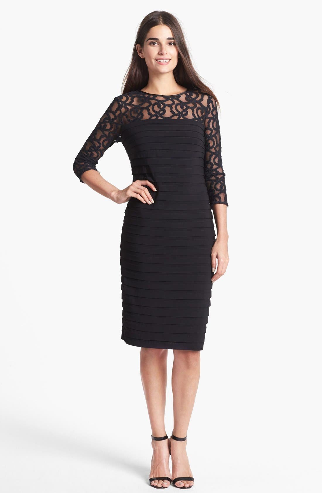 Alternate Image 1 Selected - Adrianna Papell Shutter Pleat Sheath Dress