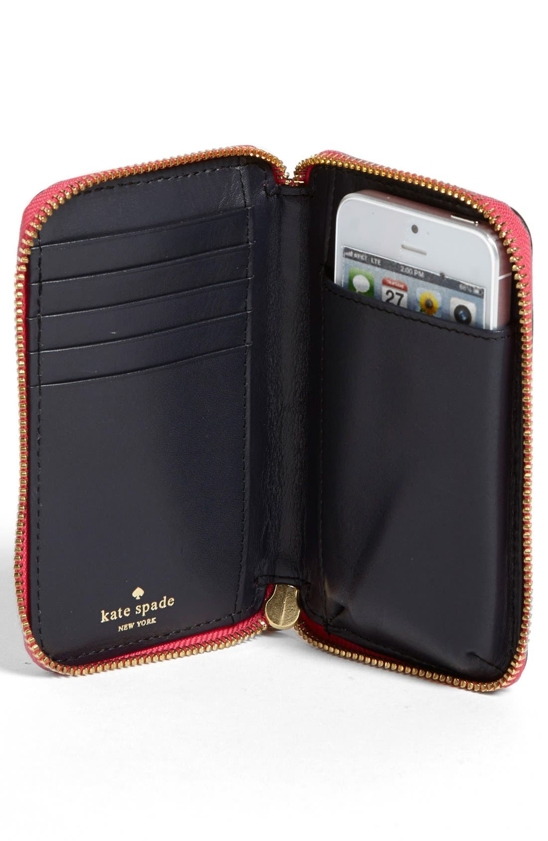 Alternate Image 3  - kate spade new york 'cherry lane - louie' saffiano leather phone wallet