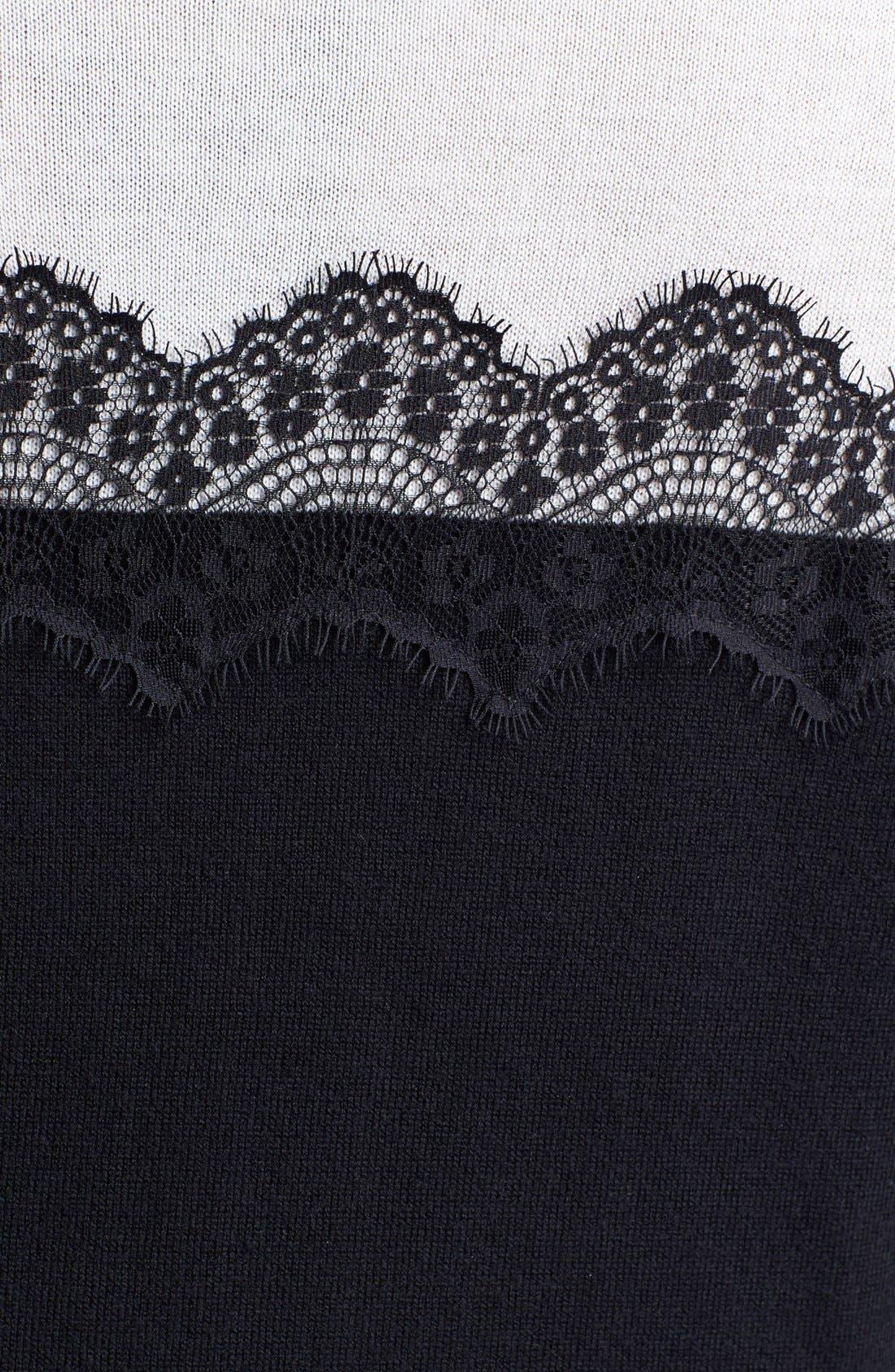 Alternate Image 3  - Vince Camuto Lace Trim Sweater (Plus Size)
