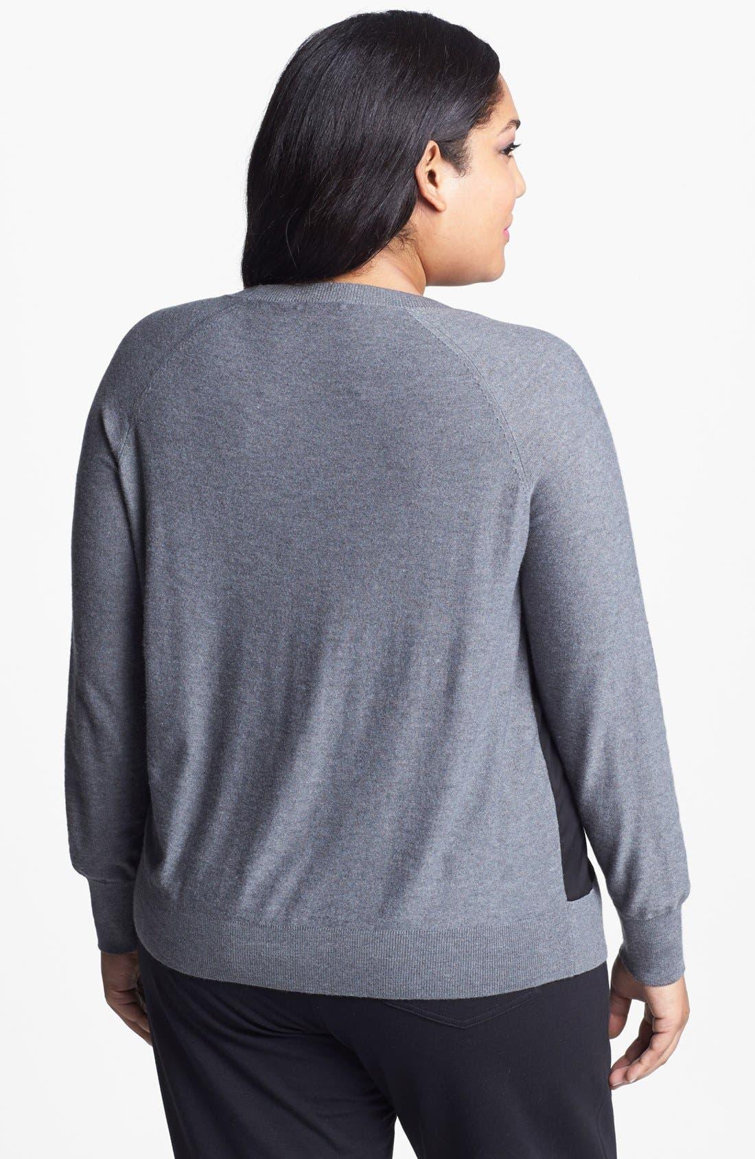 Alternate Image 2  - Halogen® Colorblock Sweater (Plus Size)