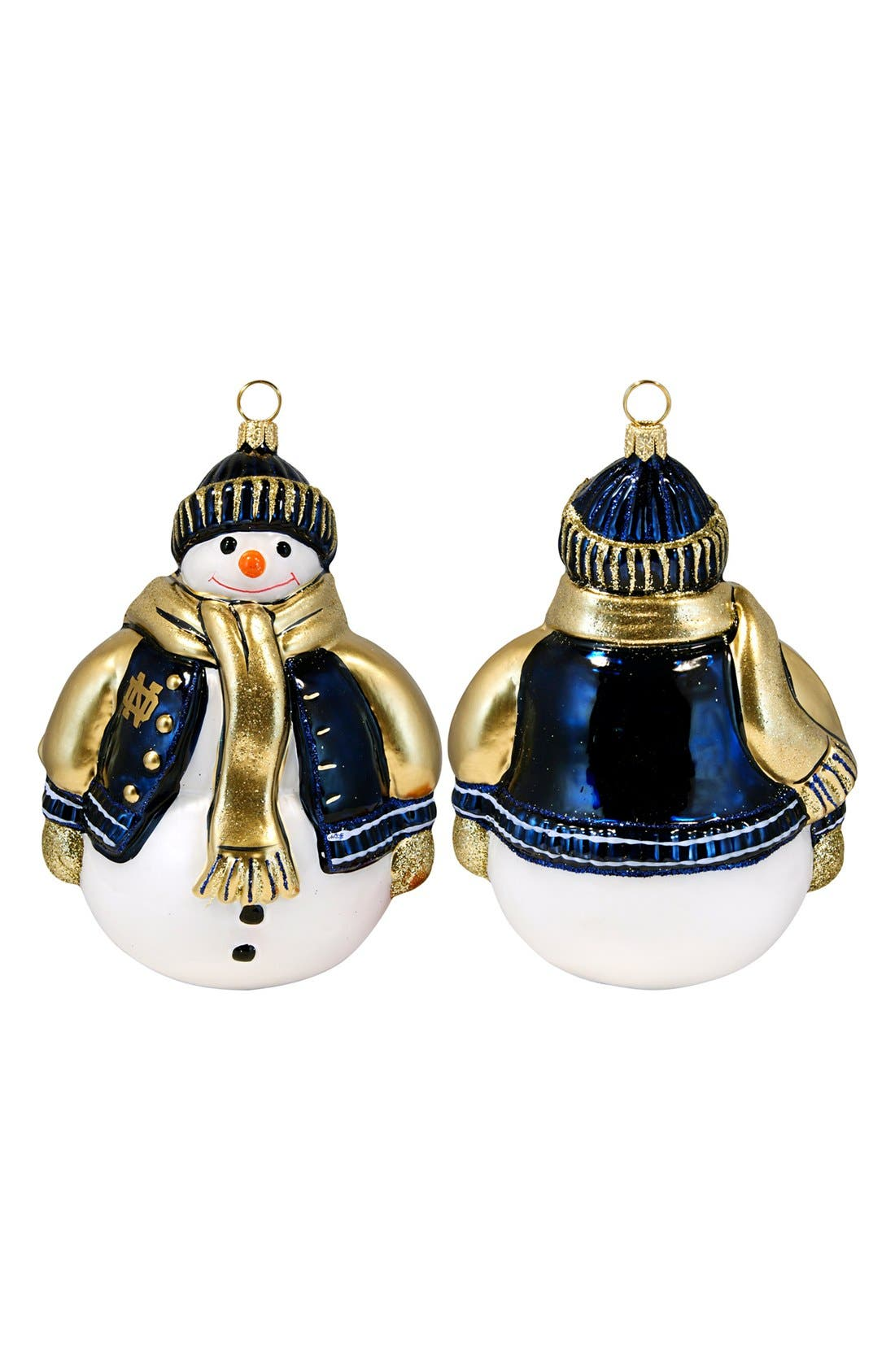 Alternate Image 1 Selected - Joy to the World Collectibles 'Collegiate Snowman - Notre Dame' Ornament