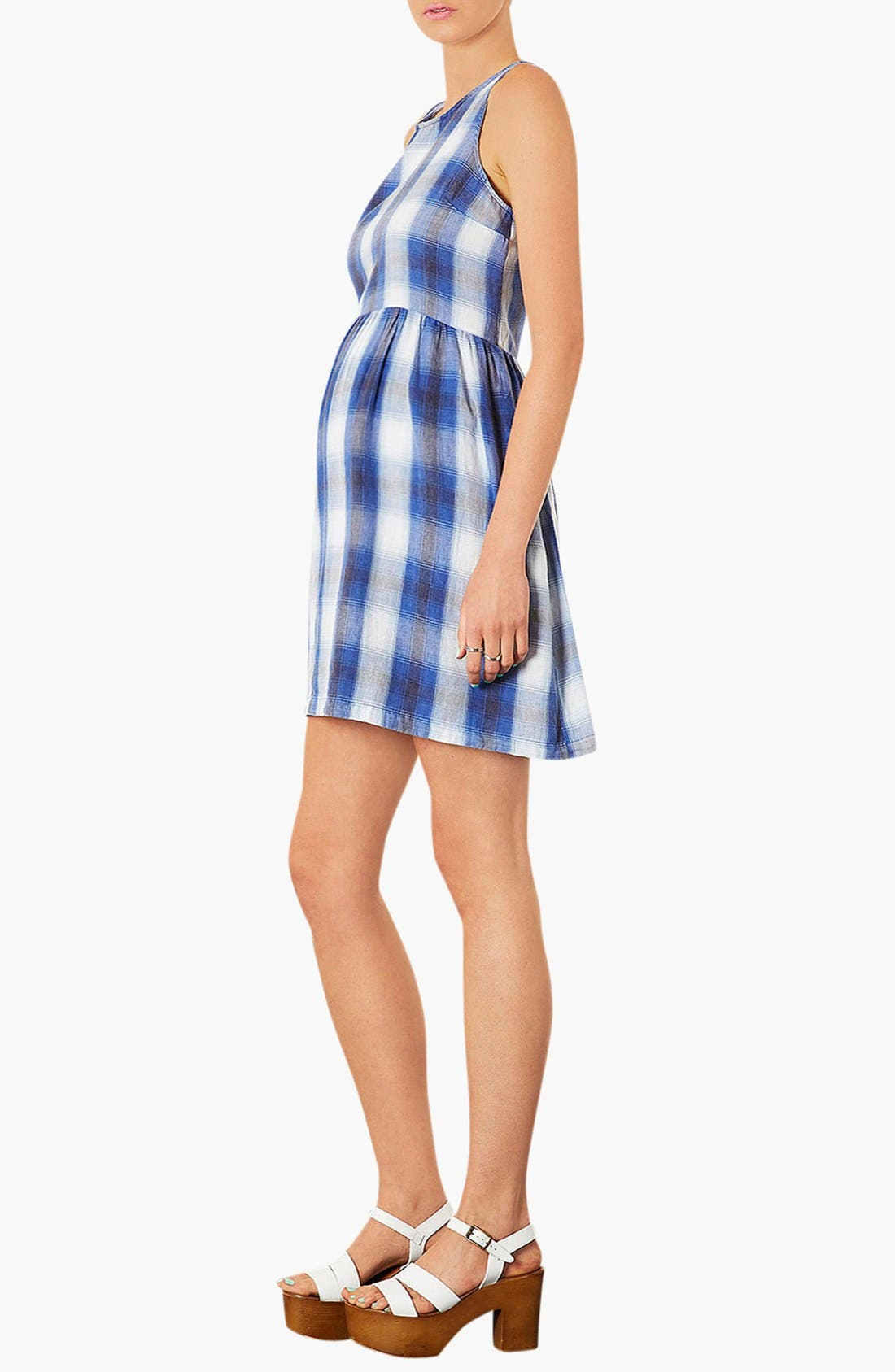 Alternate Image 2  - Topshop Check Maternity Dress