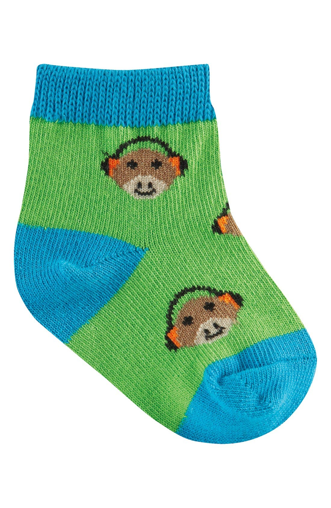 Alternate Image 2  - Sock It to Me 'Monkey, Mustache, Robot & Ninja' Socks (Set of 4) (Baby)