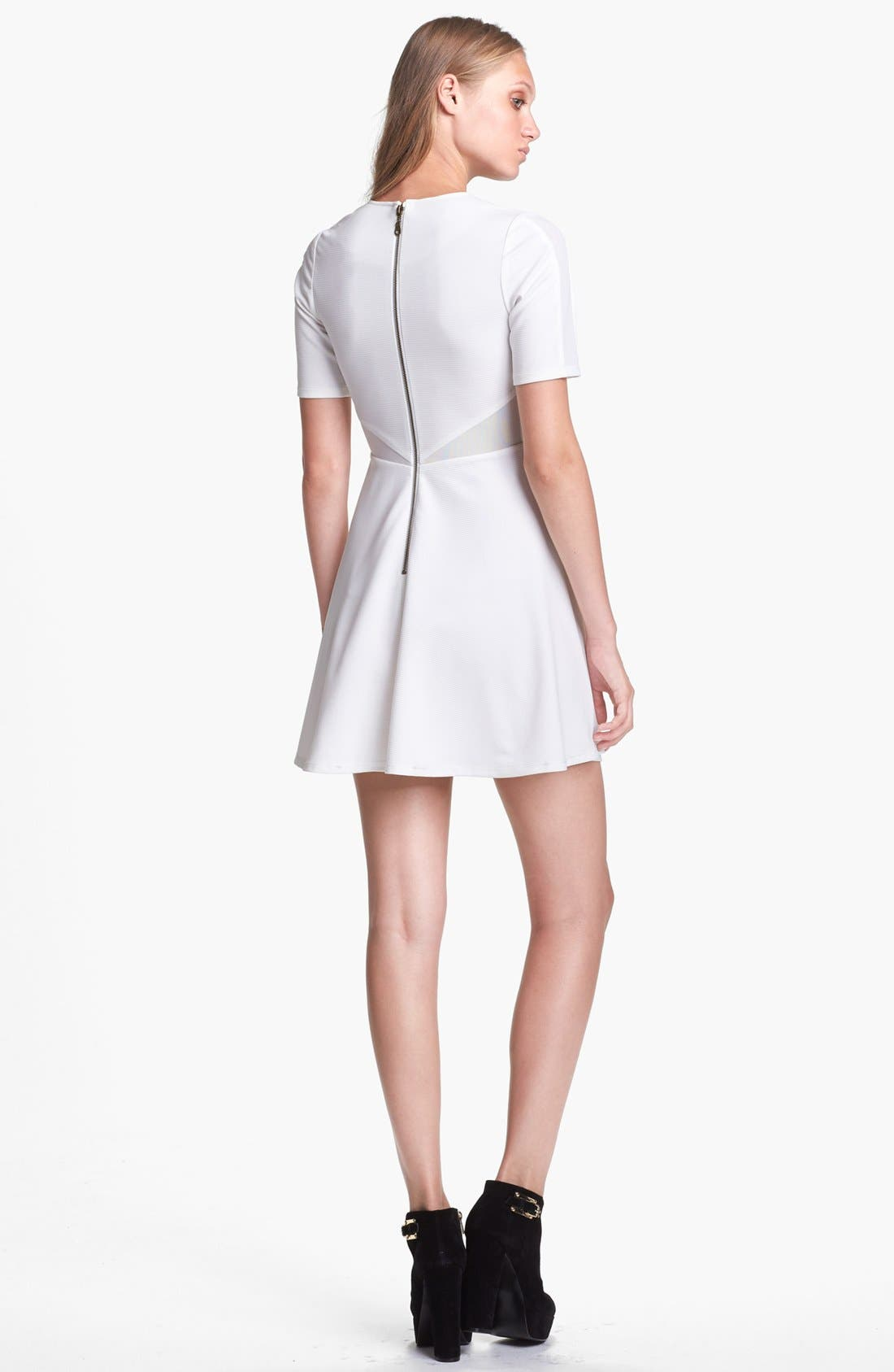 Alternate Image 2  - Lucca Couture Mesh Inset Skater Dress