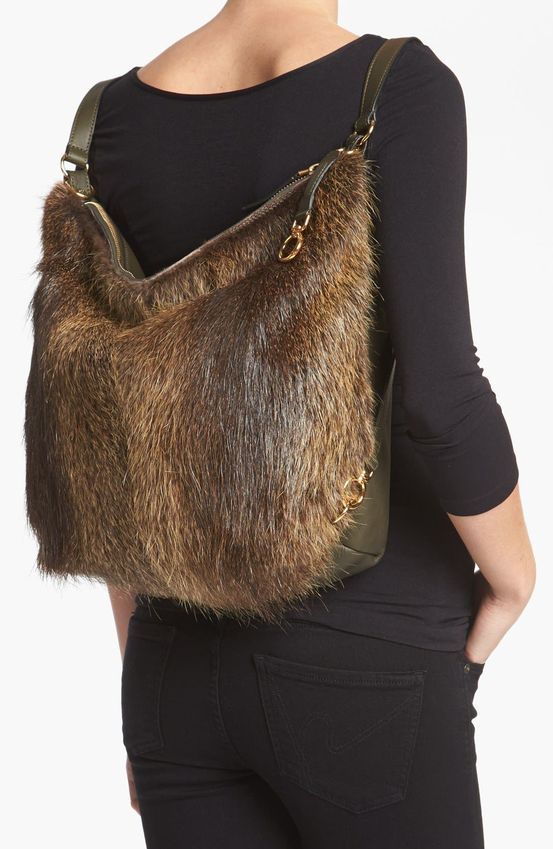 Alternate Image 2  - Marni Convertible Fur & Leather Backpack
