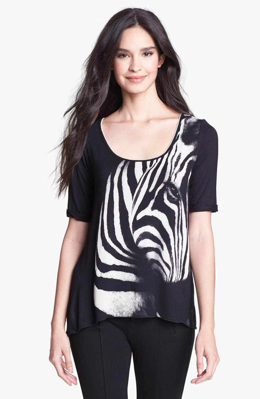 Alternate Image 1 Selected - Edista Print Front Tee (Petite)
