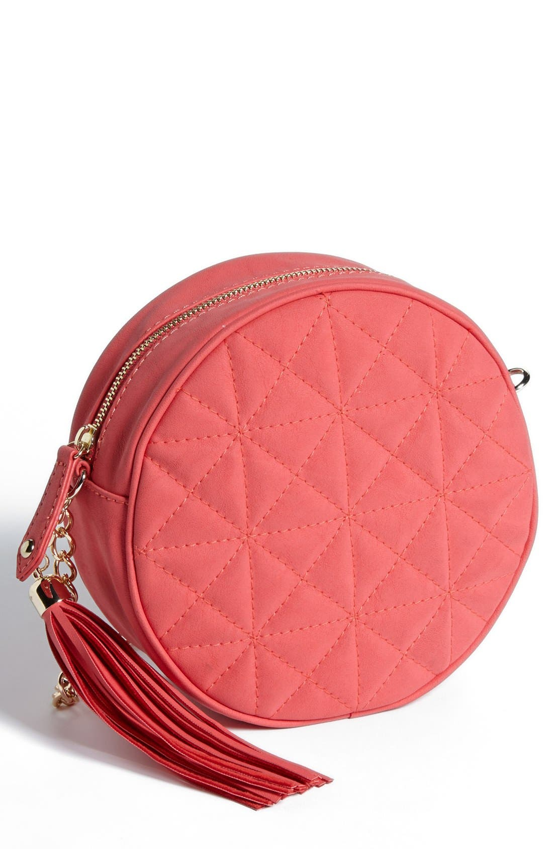 Alternate Image 1 Selected - Cesca Quilted Round Crossbody Bag (Juniors)