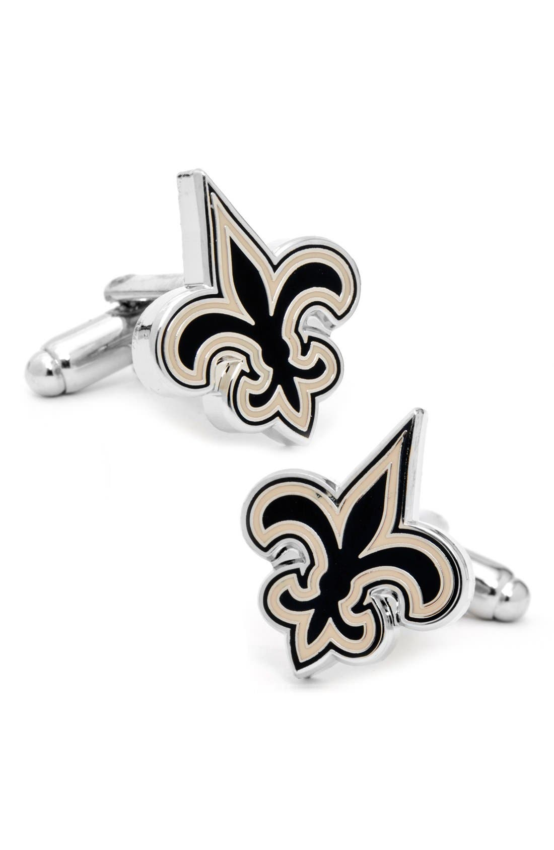 Main Image - Cufflinks, Inc. 'New Orleans Saints' Cuff Links