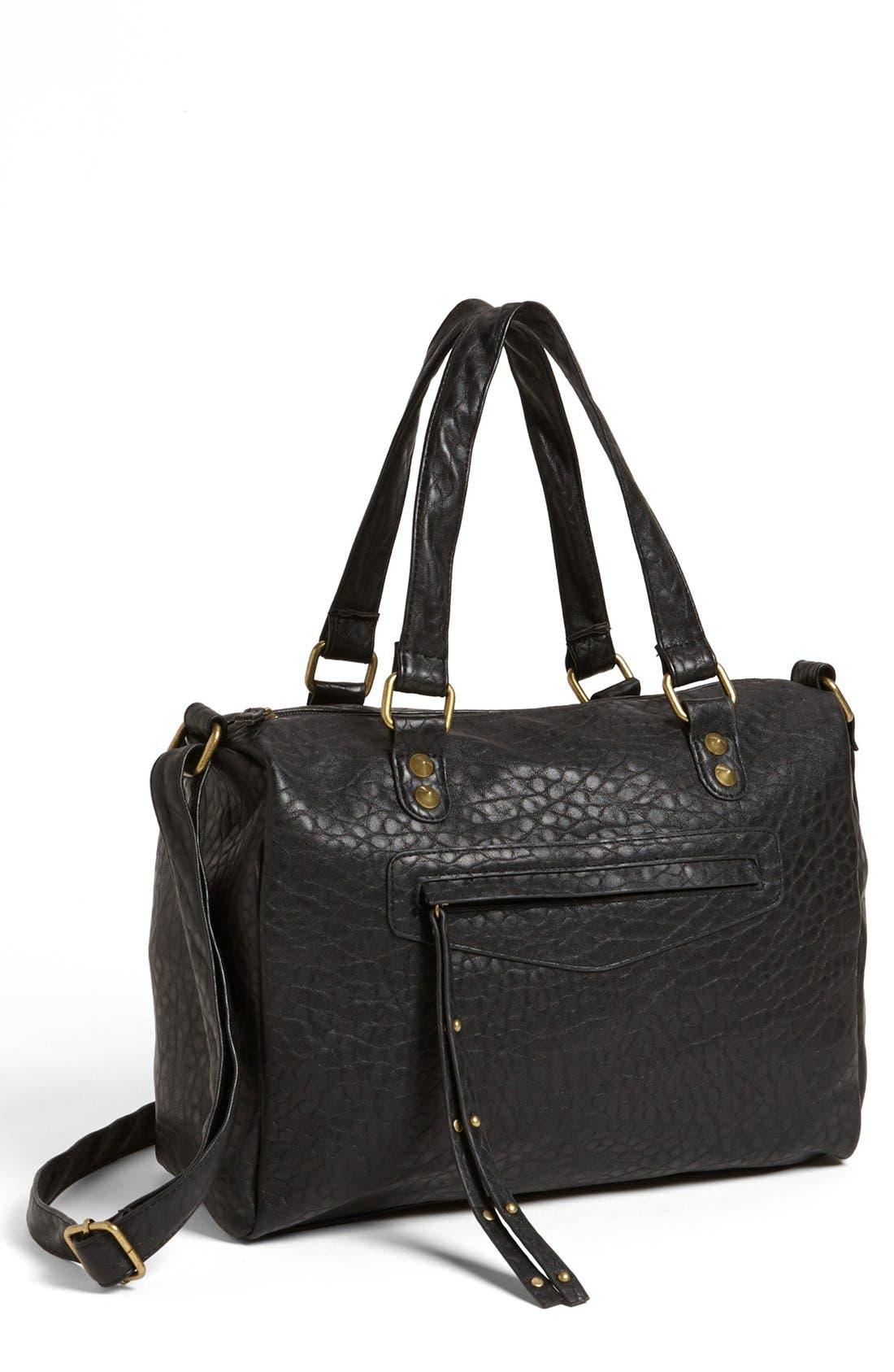 Main Image - Lulu Pebbled Faux Leather Satchel (Juniors)
