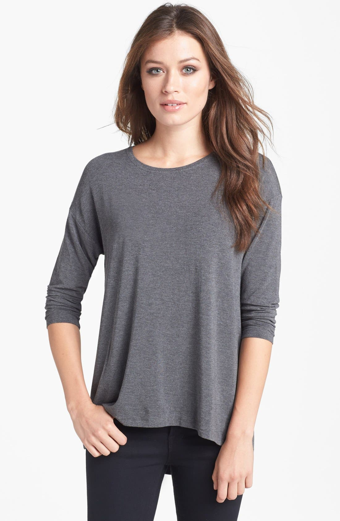 Alternate Image 1 Selected - Eileen Fisher Ballet Neck Top