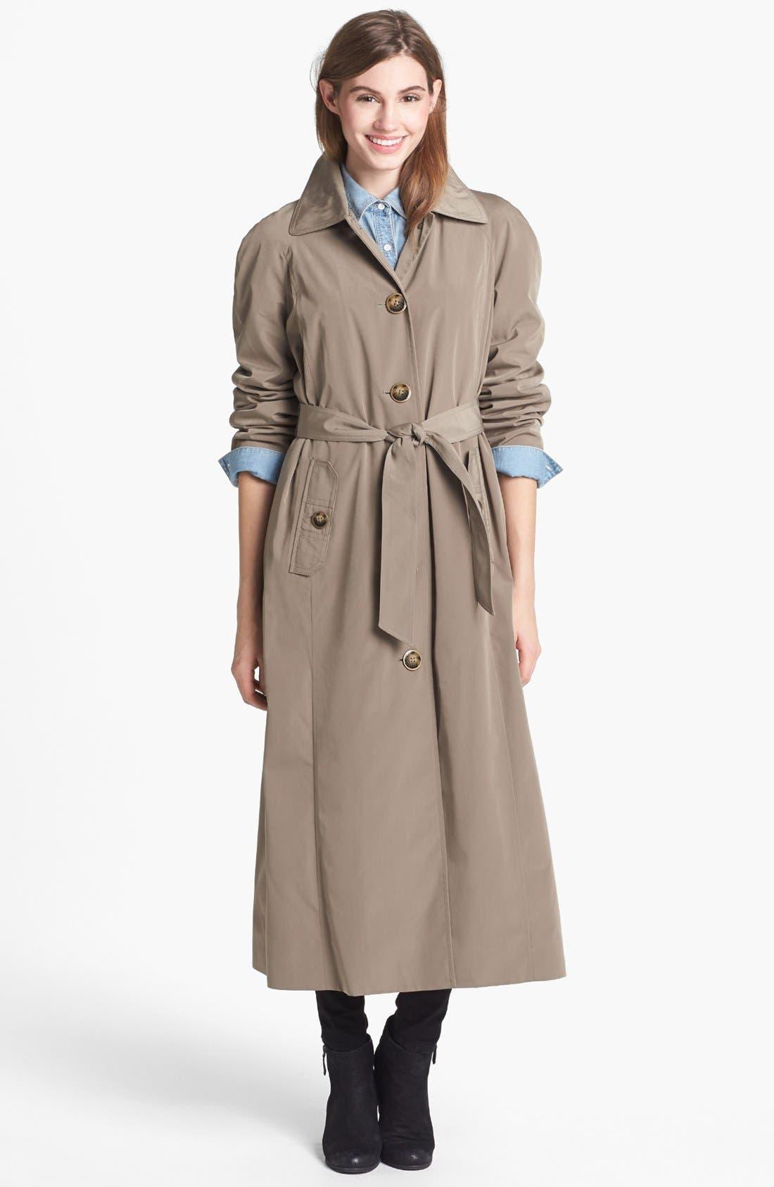 Alternate Image 3  - London Fog Long Trench Coat with Detachable Hood & Liner (Regular & Petite)