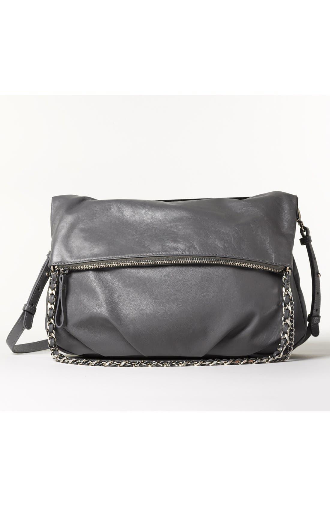 Alternate Image 2  - Trouvé Foldover Leather Crossbody Bag