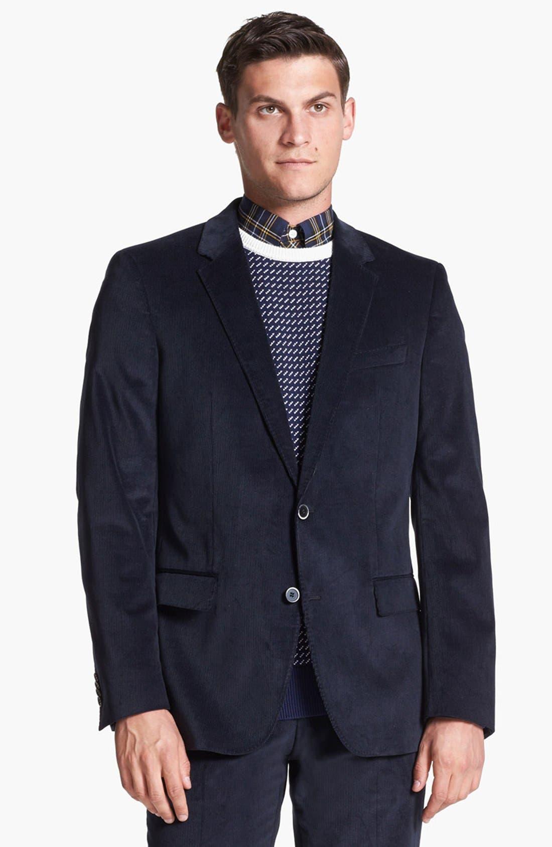 Alternate Image 4  - BOSS 'Hedge/Gense' Trim Fit Corduroy Suit