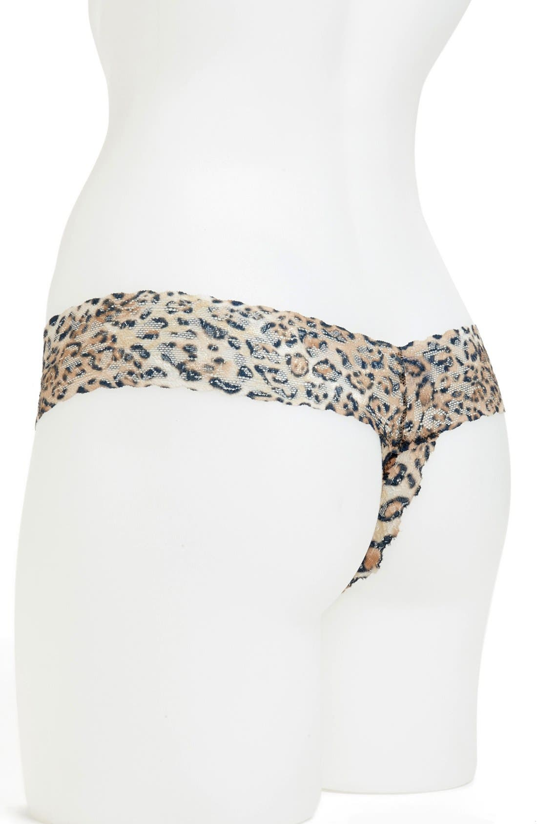 Alternate Image 2  - Hanky Panky 'After Midnight' Open Gusset Lace Thong