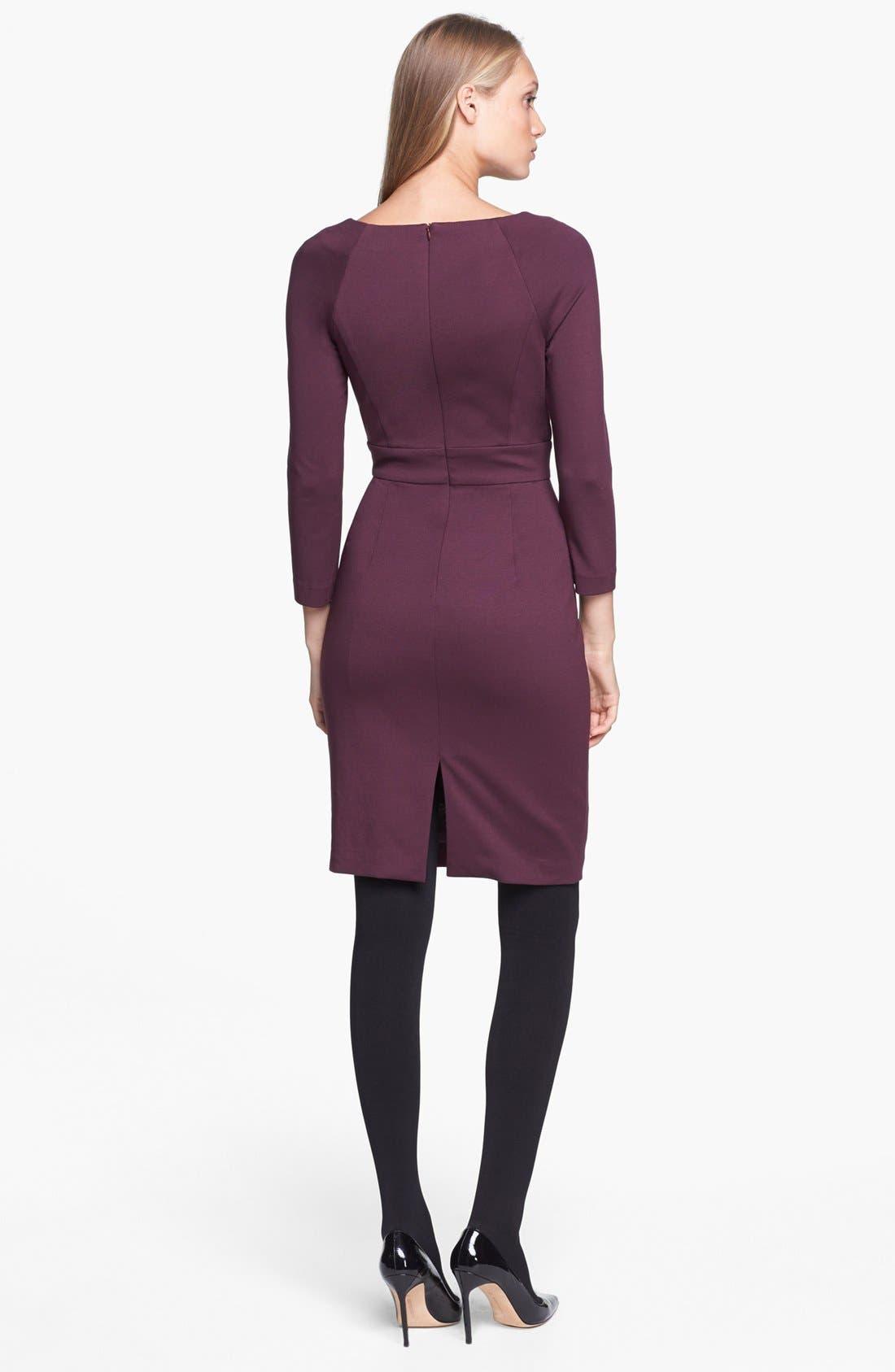 Alternate Image 2  - Trina Turk 'Fenella' Ponte Sheath Dress