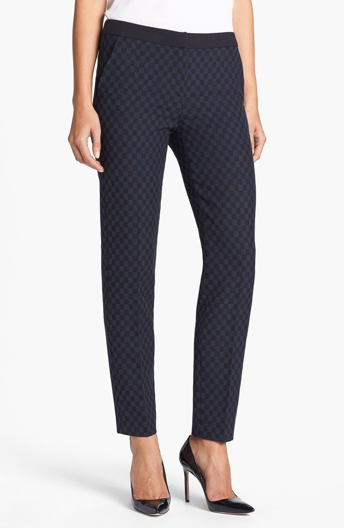 Main Image - Halogen® 'Quinn' Jacquard Skinny Ankle Pants
