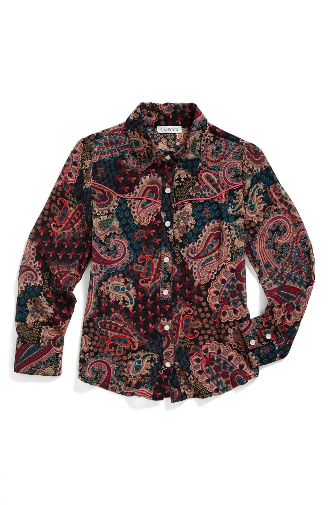 Main Image - Mia Chica Paisley Top (Big Girls)