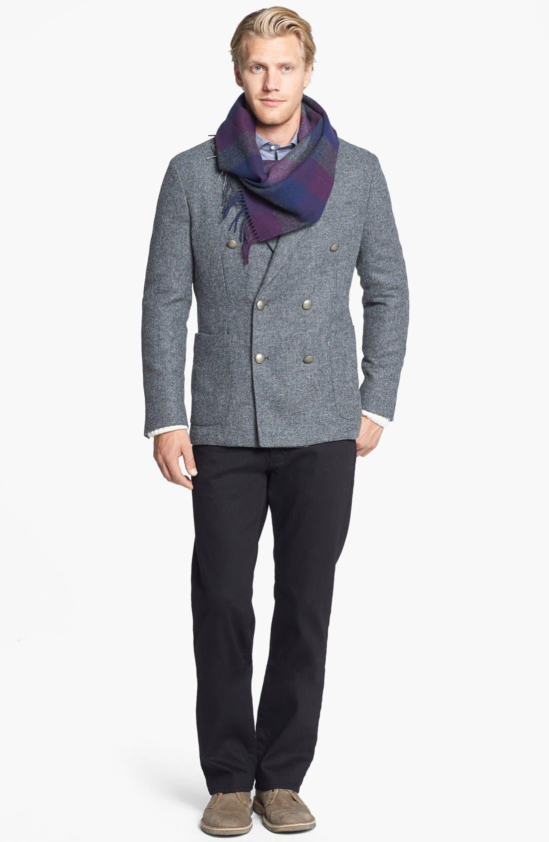 Alternate Image 4  - Kent and Curwen 'Worthington' Double Breasted Shetland Wool Sportcoat
