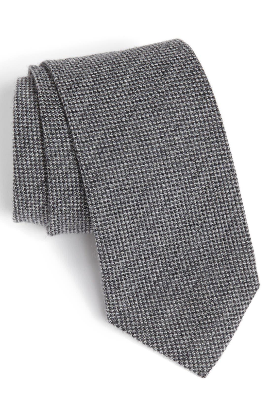 Main Image - John W. Nordstrom Woven Wool Tie