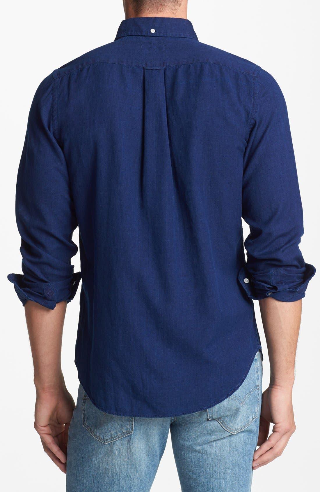 Alternate Image 2  - Gant Rugger Indigo Oxford Shirt