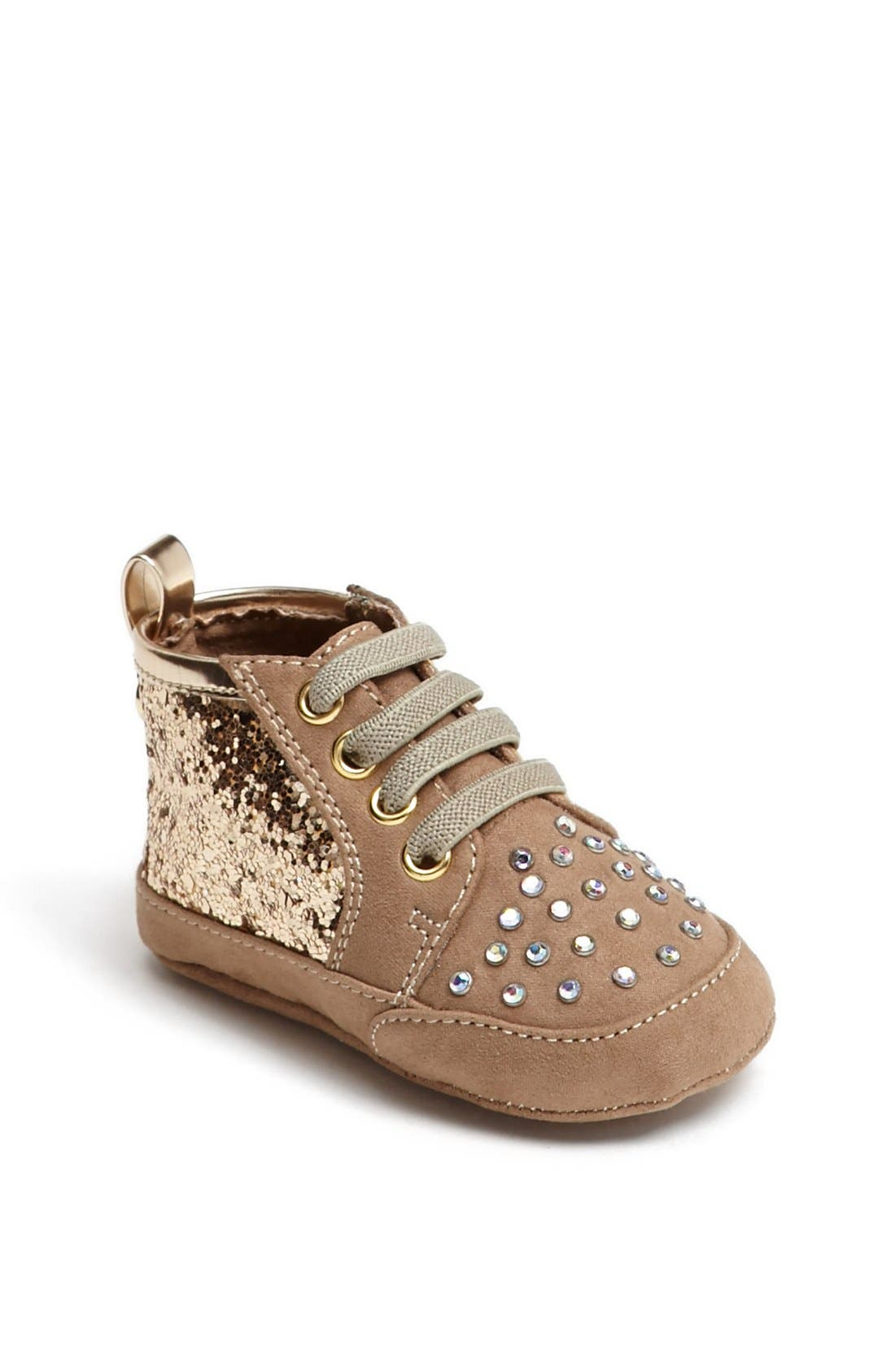 Alternate Image 1 Selected - Stuart Weitzman 'Vance' Crib Shoe (Baby Girls)