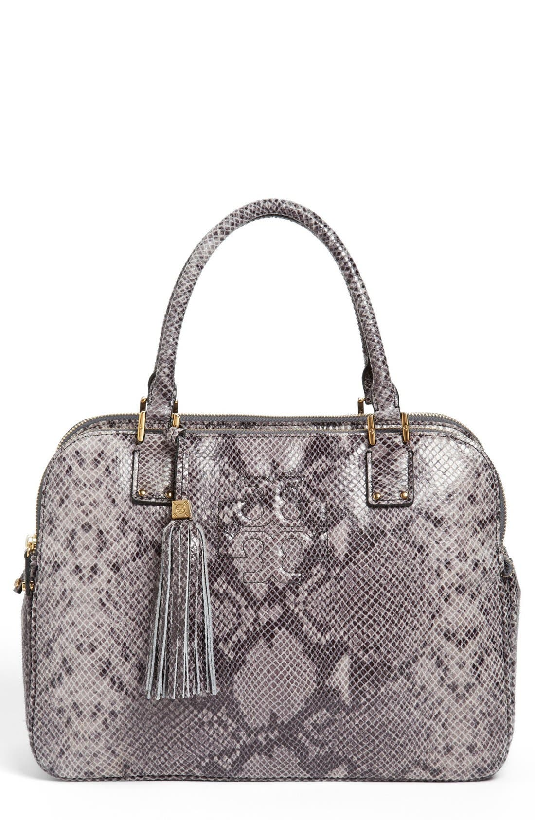 Main Image - Tory Burch 'Thea' Snake Print Satchel, Medium