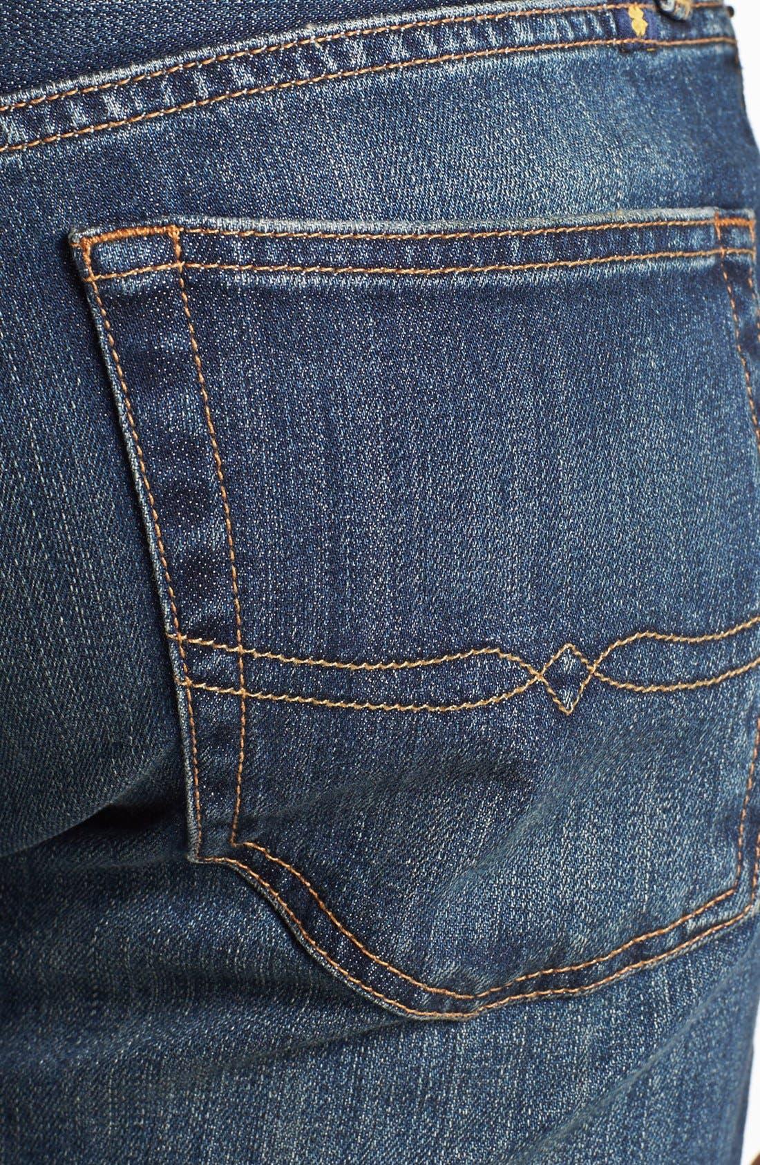Alternate Image 4  - Lucky Brand '329 Classic' Straight Leg Jeans (Glacier)