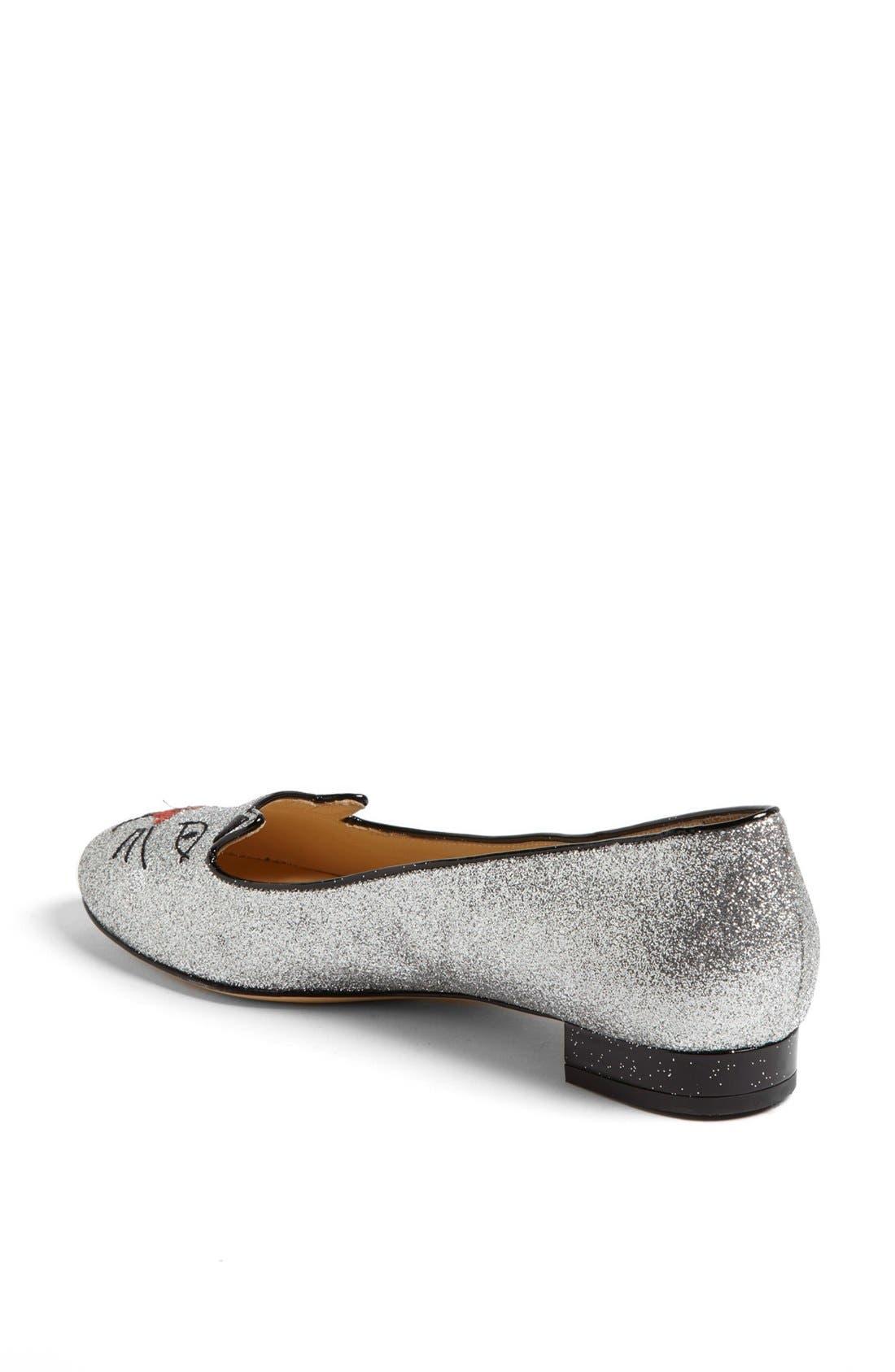 Alternate Image 3  - Charlotte Olympia 'Glitter Kitty' Flat