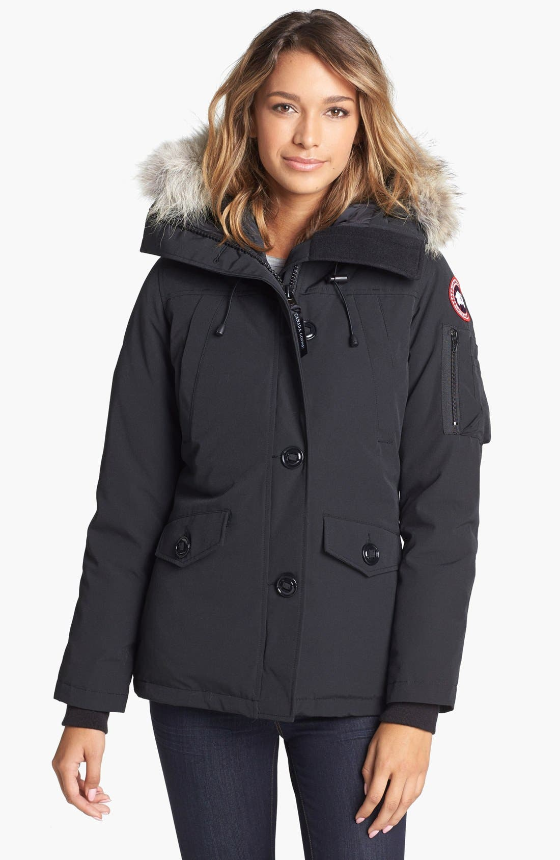 Alternate Image 1 Selected - Canada Goose Montebello Slim Fit Down Parka with Genuine Coyote Fur Trim