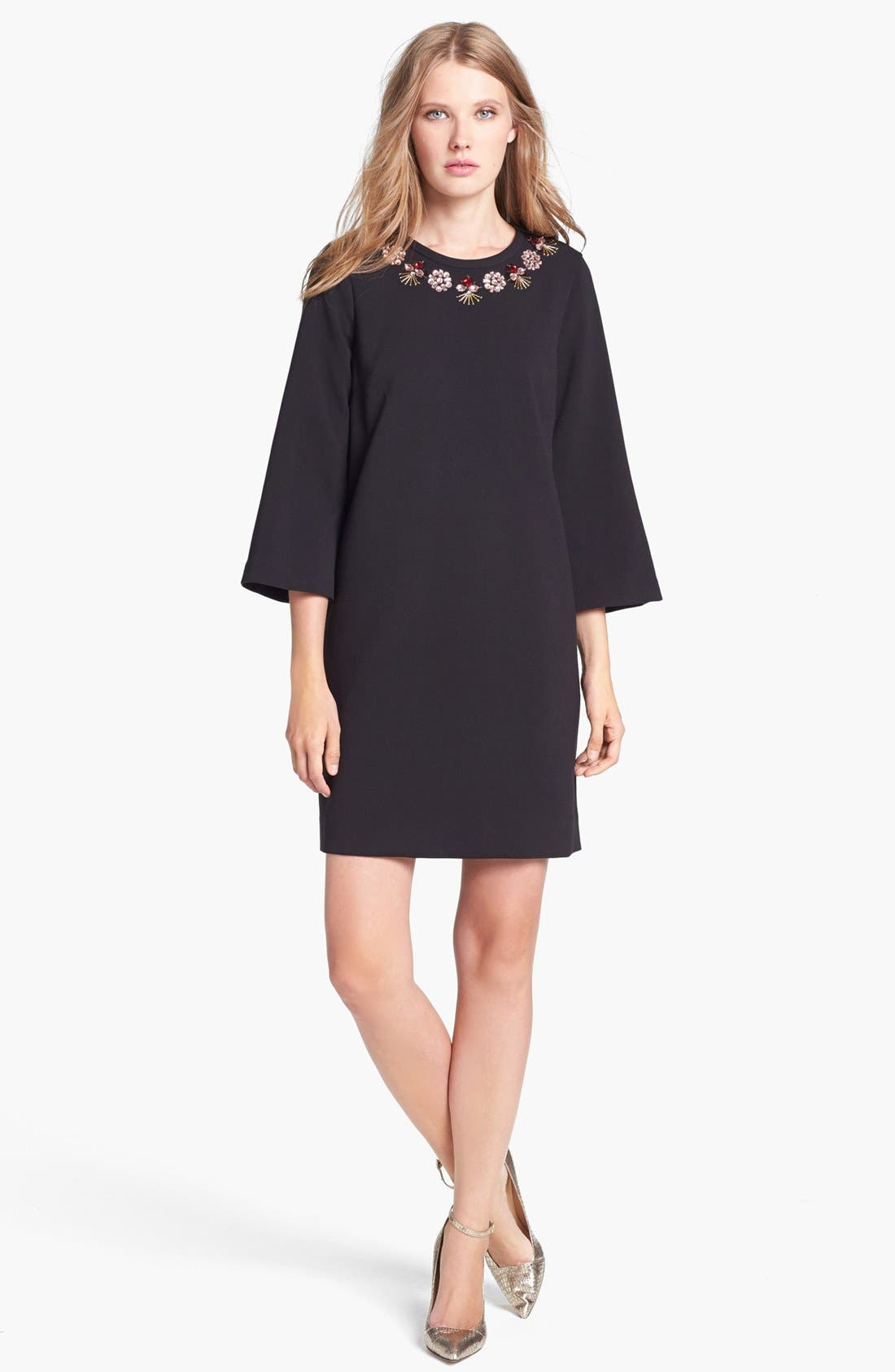 Alternate Image 1 Selected - kate spade new york 'lucy' embellished stretch shift dress