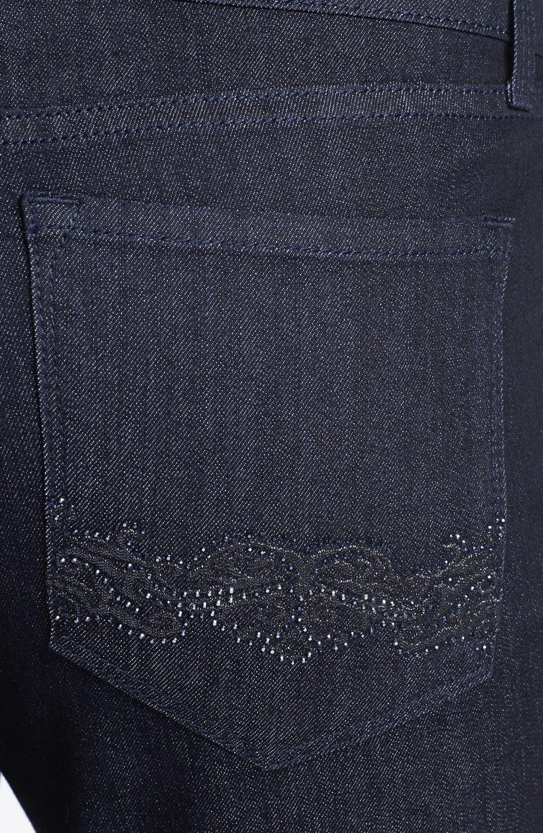 Alternate Image 3  - NYDJ 'Barbara' Embellished Bootcut Jeans (Dark Enzyme) (Regular & Petite)