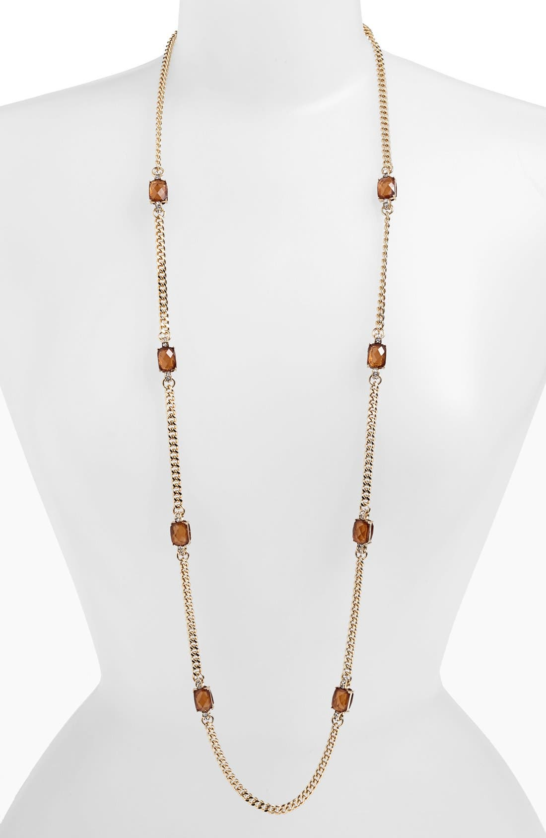 Main Image - Anne Klein Stone Station Necklace