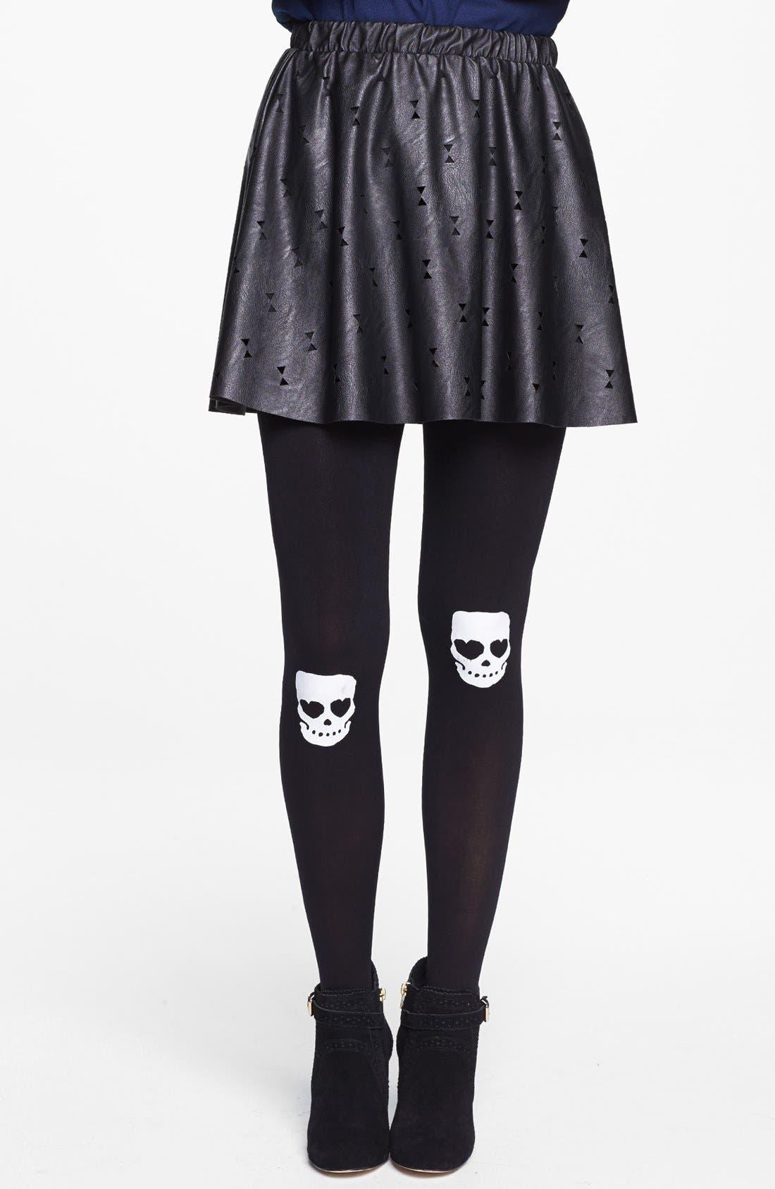 Alternate Image 1 Selected - BP. Skull Knee Tights (Juniors)