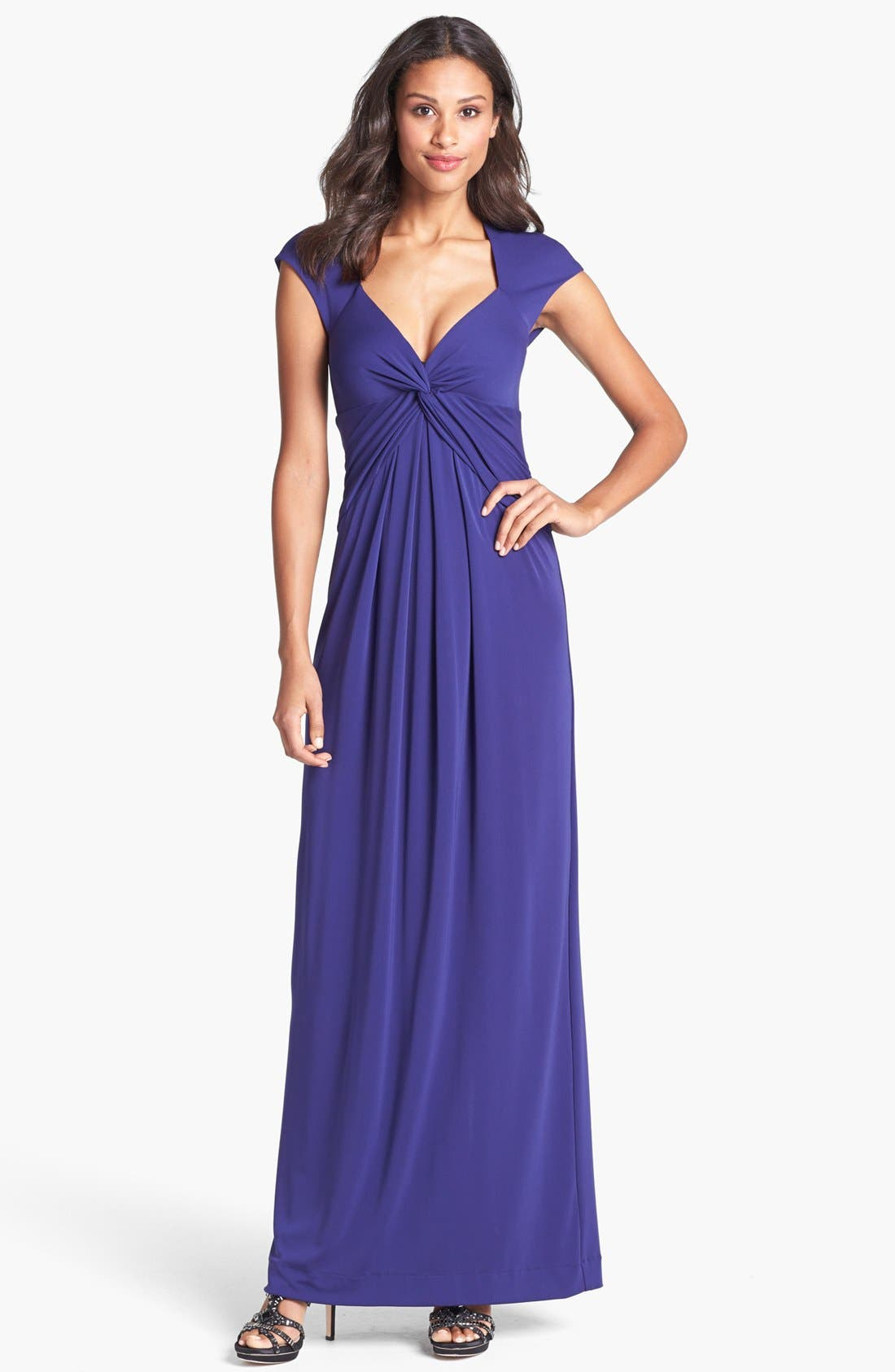 Alternate Image 1 Selected - Nicole Miller Jersey Knot Gown