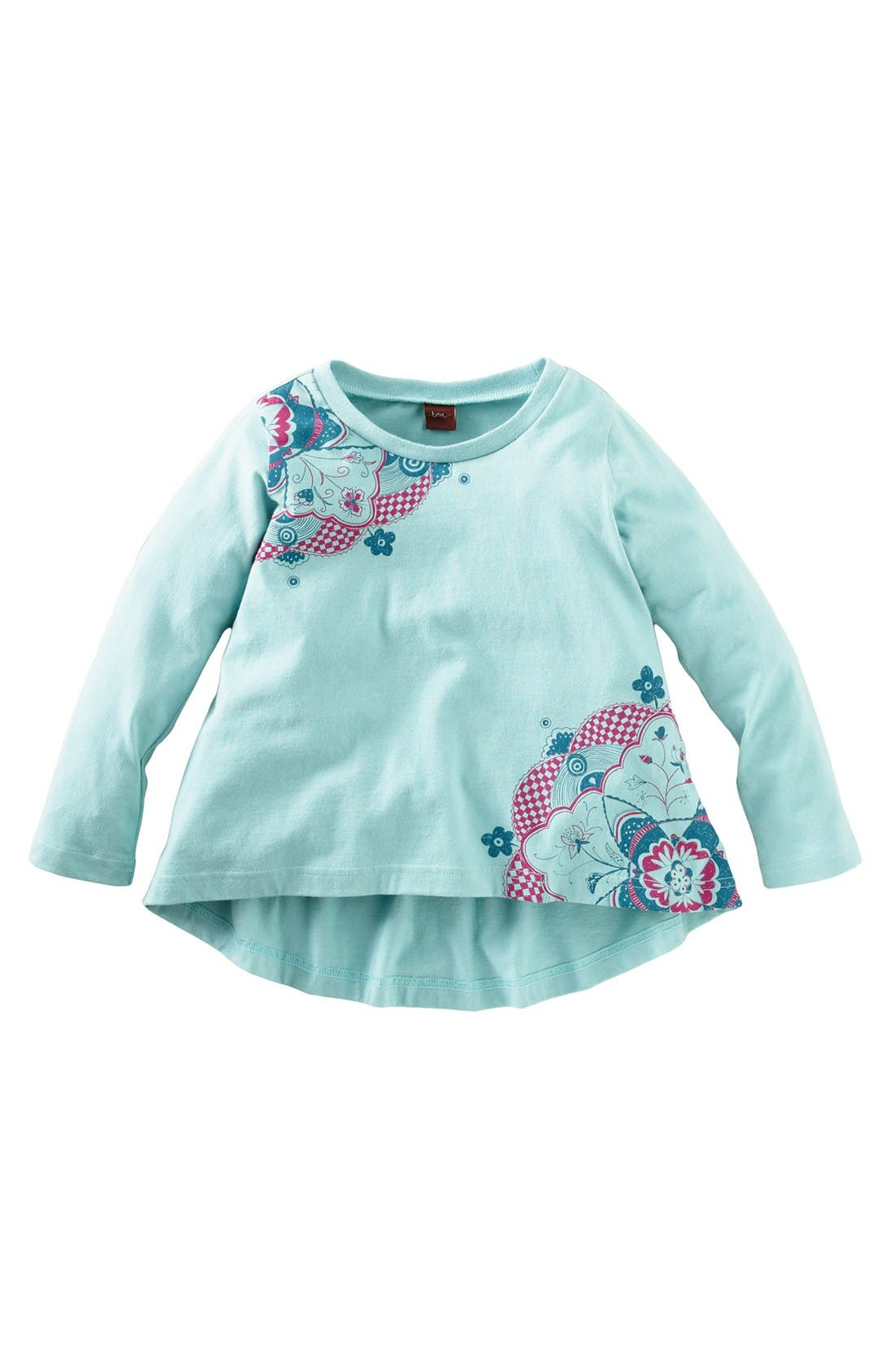 Alternate Image 1 Selected - Tea Collection 'Love Bird' High/Low Top (Little Girls & Big Girls)