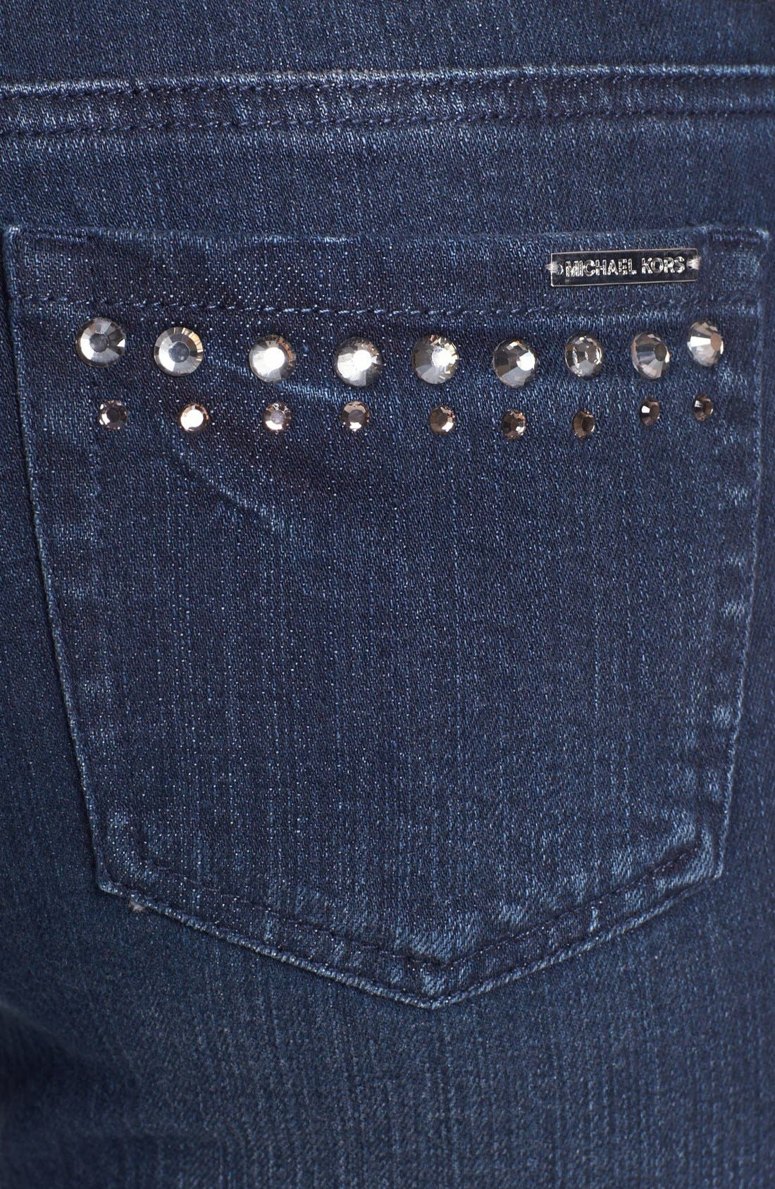 Alternate Image 3  - MICHAEL Michael Kors Embellished Skinny Jeans (Stellar)