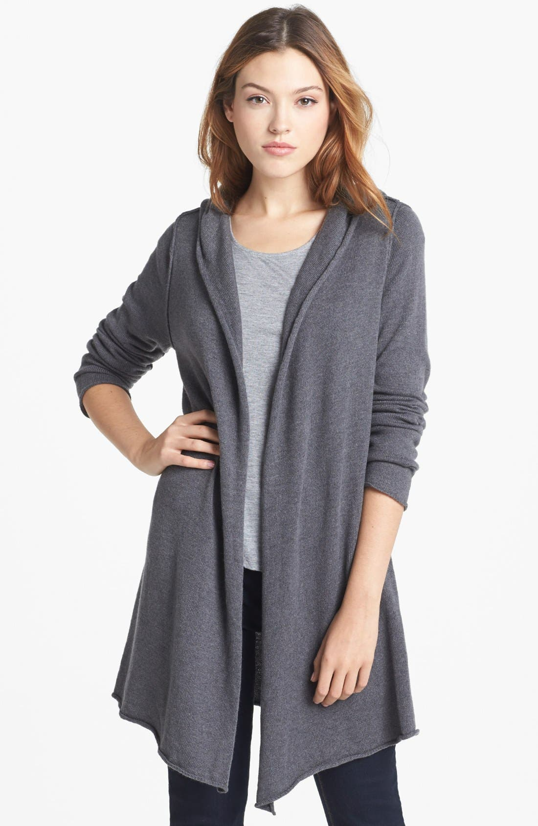 Main Image - Current Affair Hooded Long Sweater