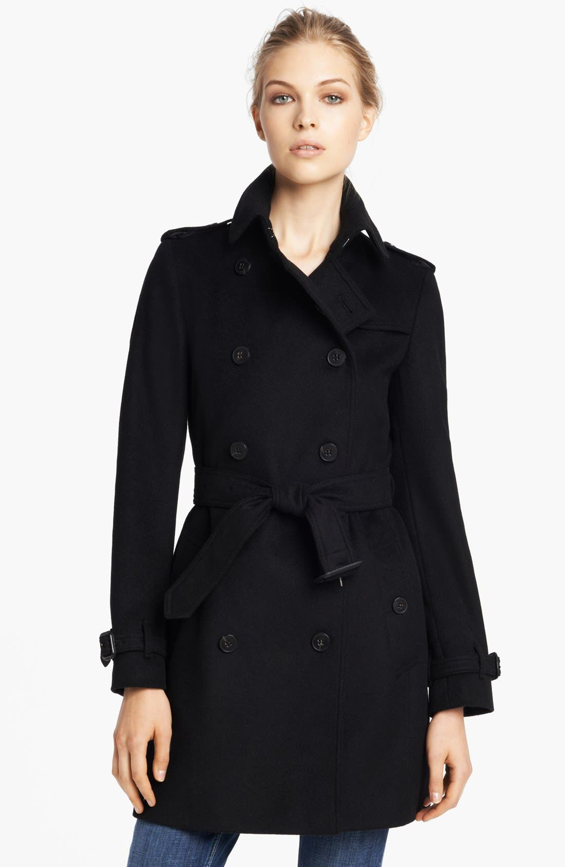 Main Image - Burberry London Double Breasted Wool & Cashmere Coat