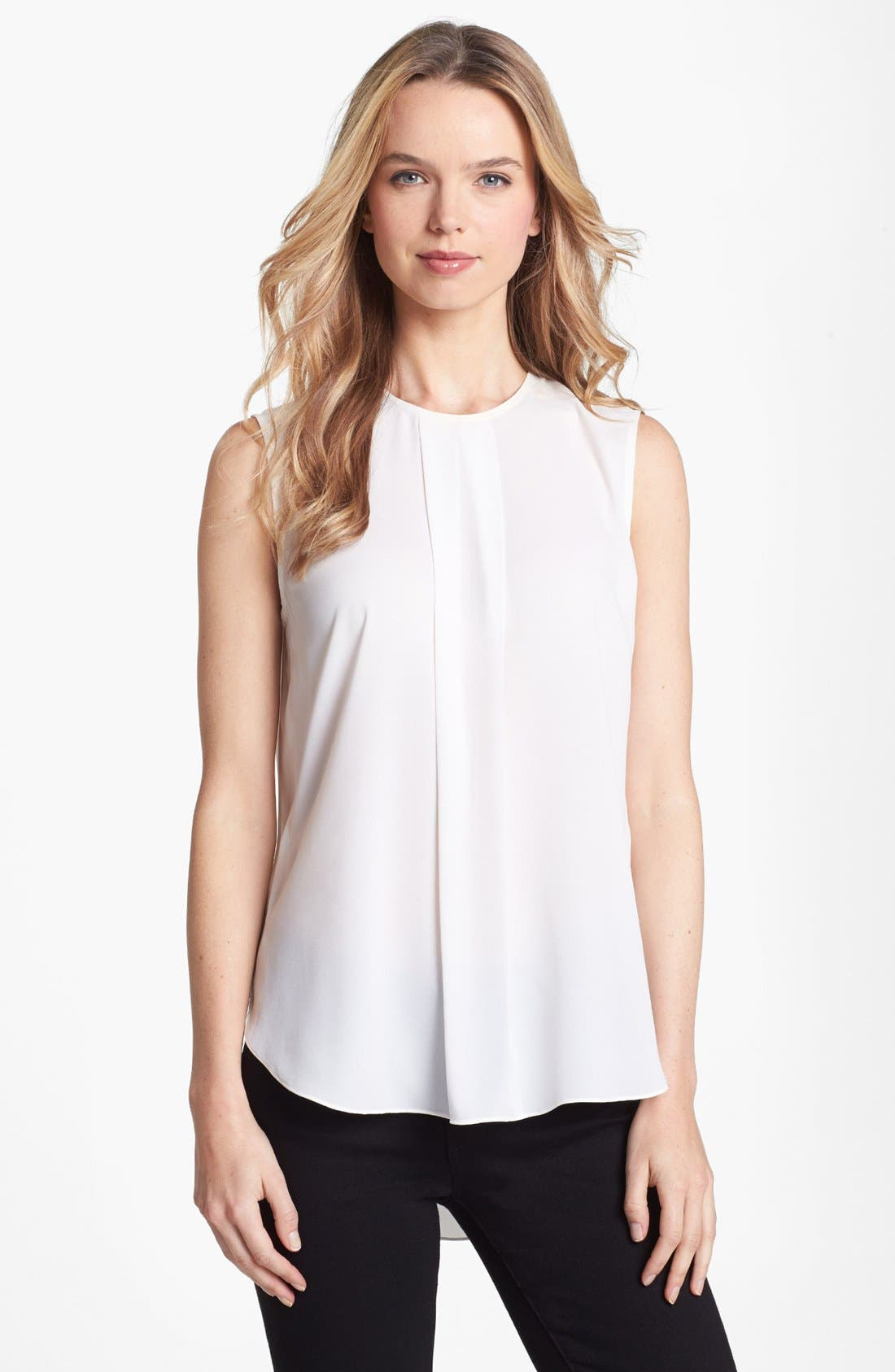Alternate Image 1 Selected - Vince Camuto Center Pleat Sleeveless Blouse
