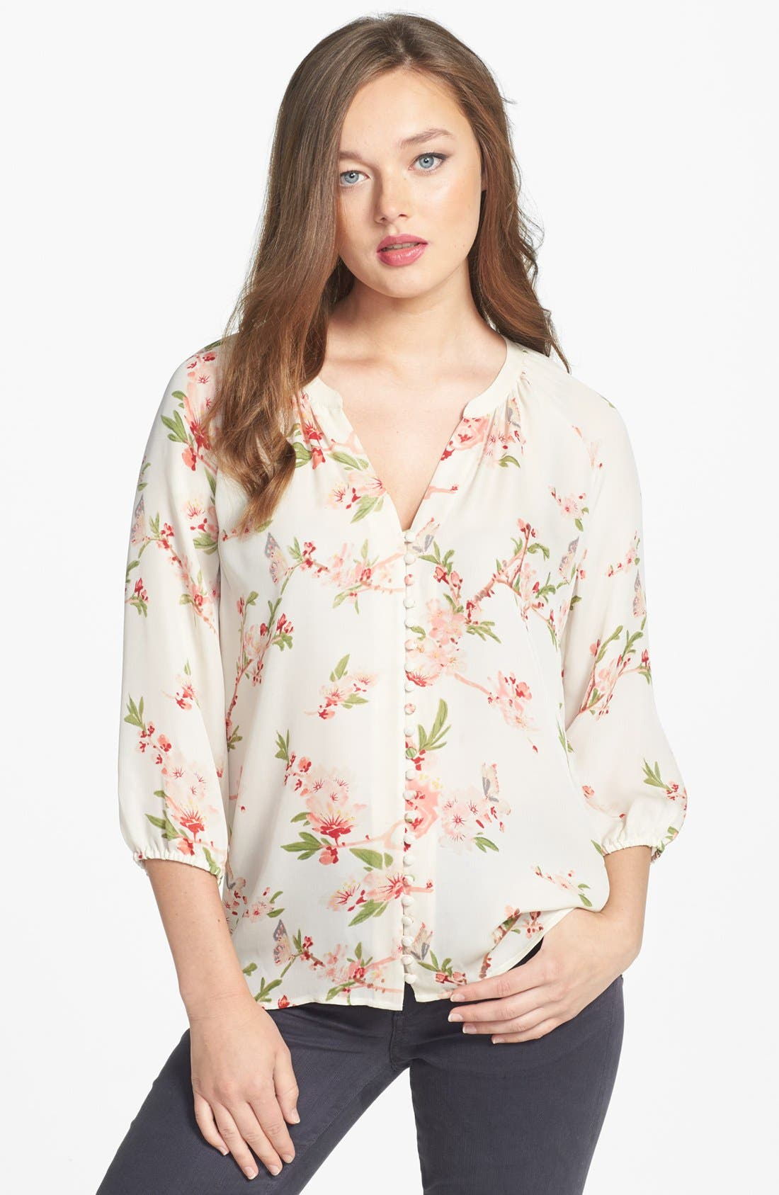 Alternate Image 1 Selected - Joie 'Kade' Print Silk Blouse