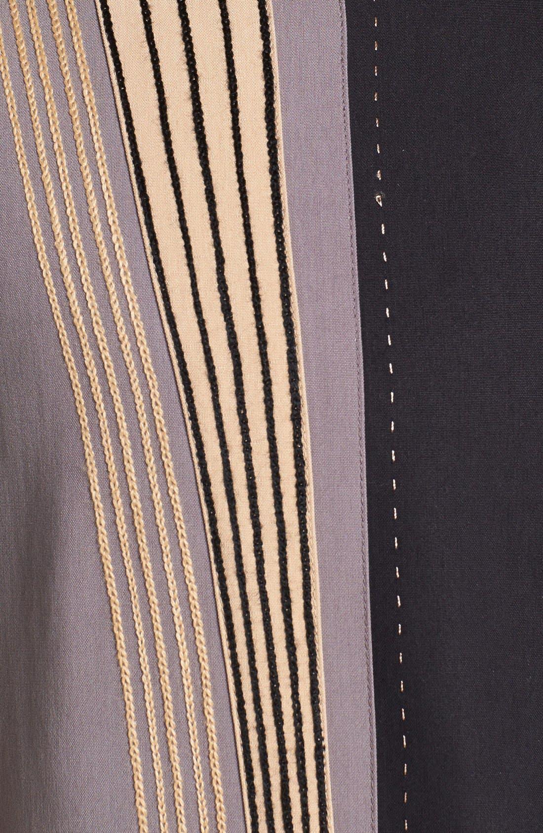 Alternate Image 3  - Nat Nast 'Barzini' Silk Campshirt