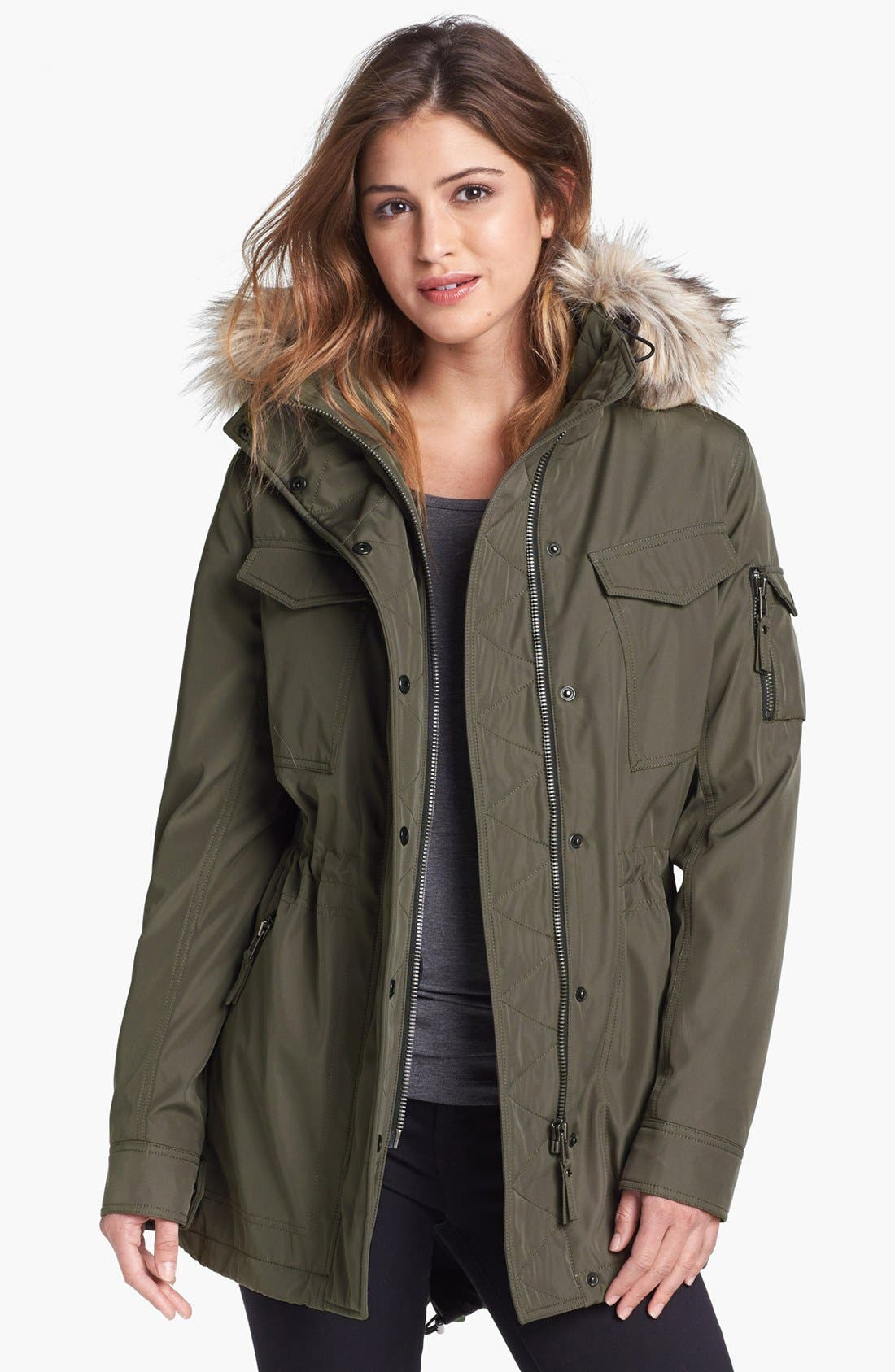 Alternate Image 1 Selected - S13/NYC 'Field Parka' Anorak with Faux Fur Trim