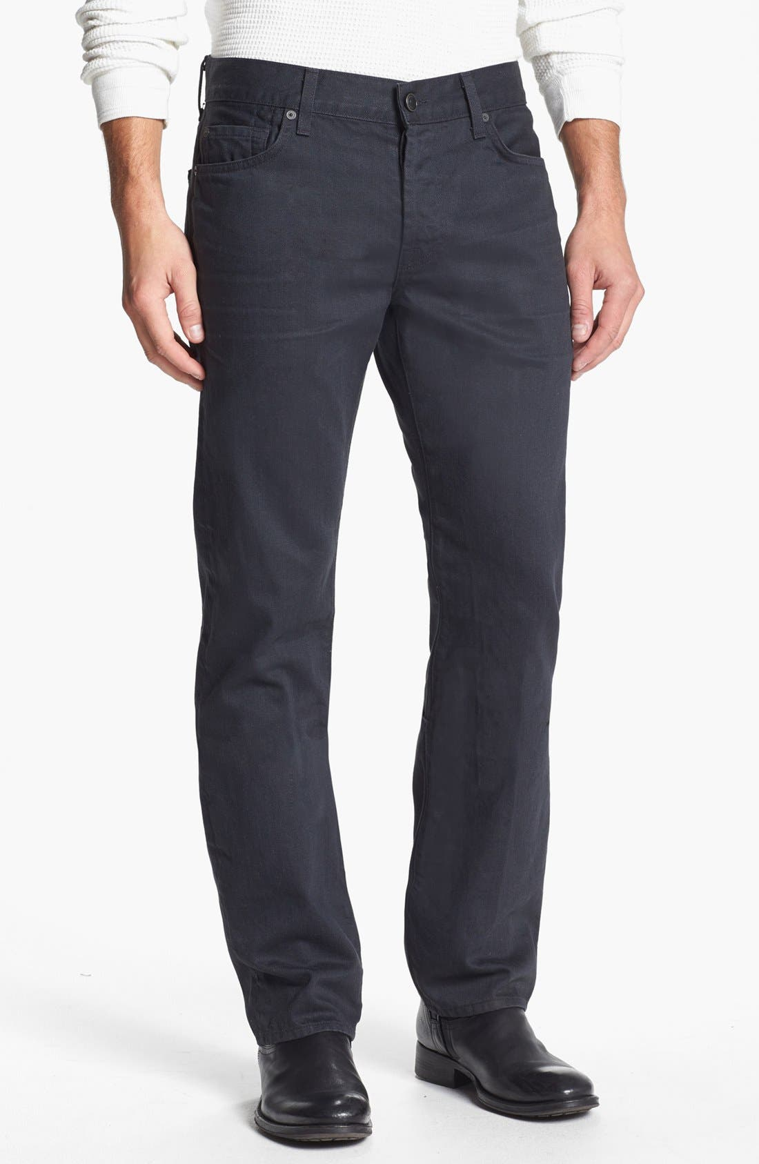 Alternate Image 2  - 7 For All Mankind® 'Standard' Straight Leg Jeans (Agate Grey)