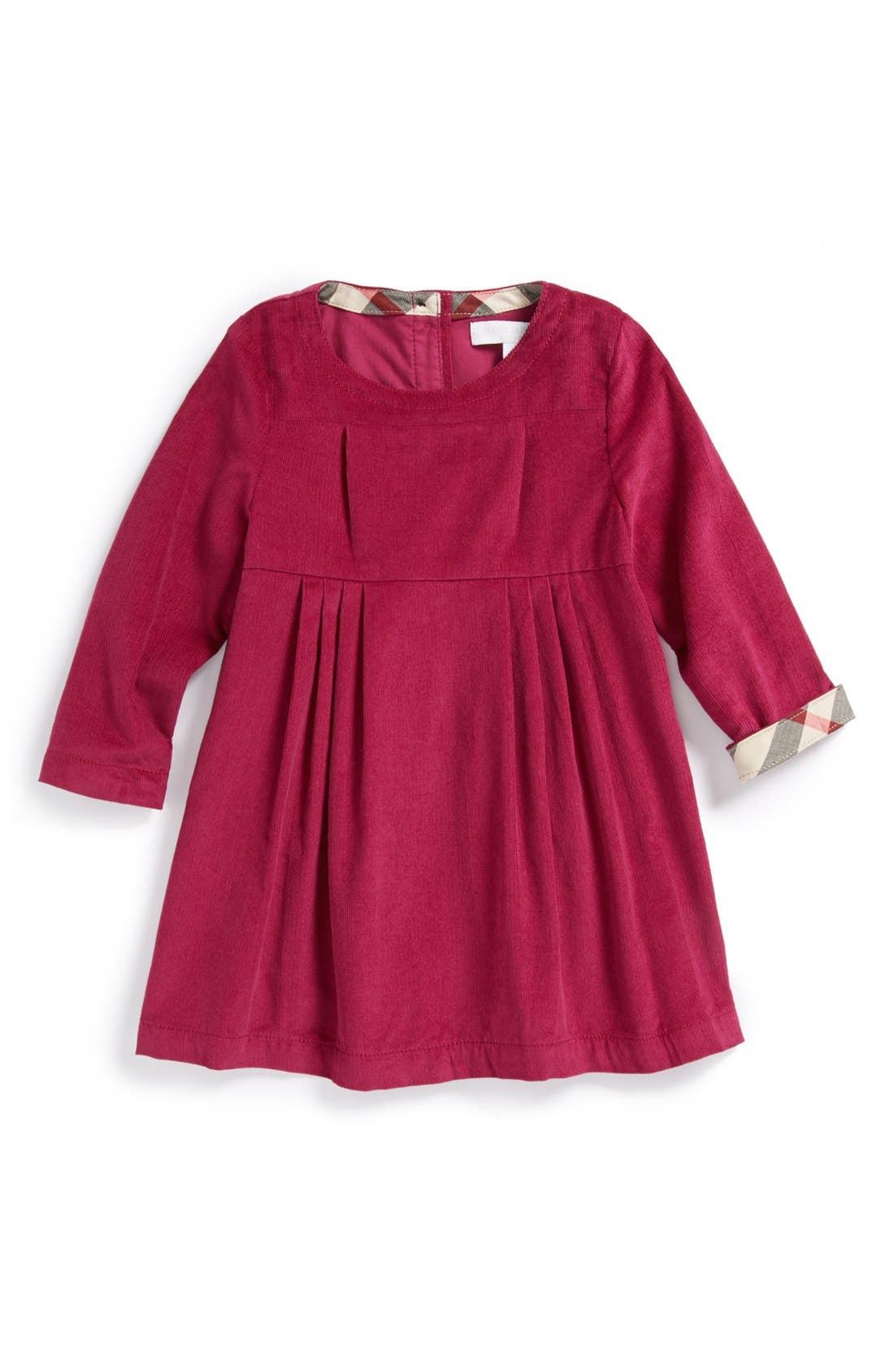 Alternate Image 1 Selected - Burberry 'Rebecca' Corduroy Dress (Baby Girls)