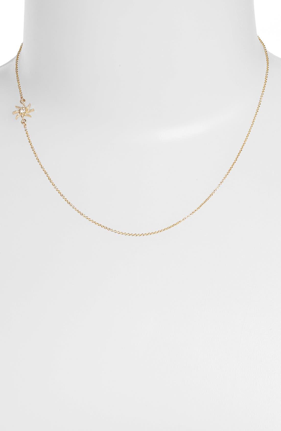 Alternate Image 1 Selected - Mizuki 'Wings of Desire' Diamond Sun Station Necklace