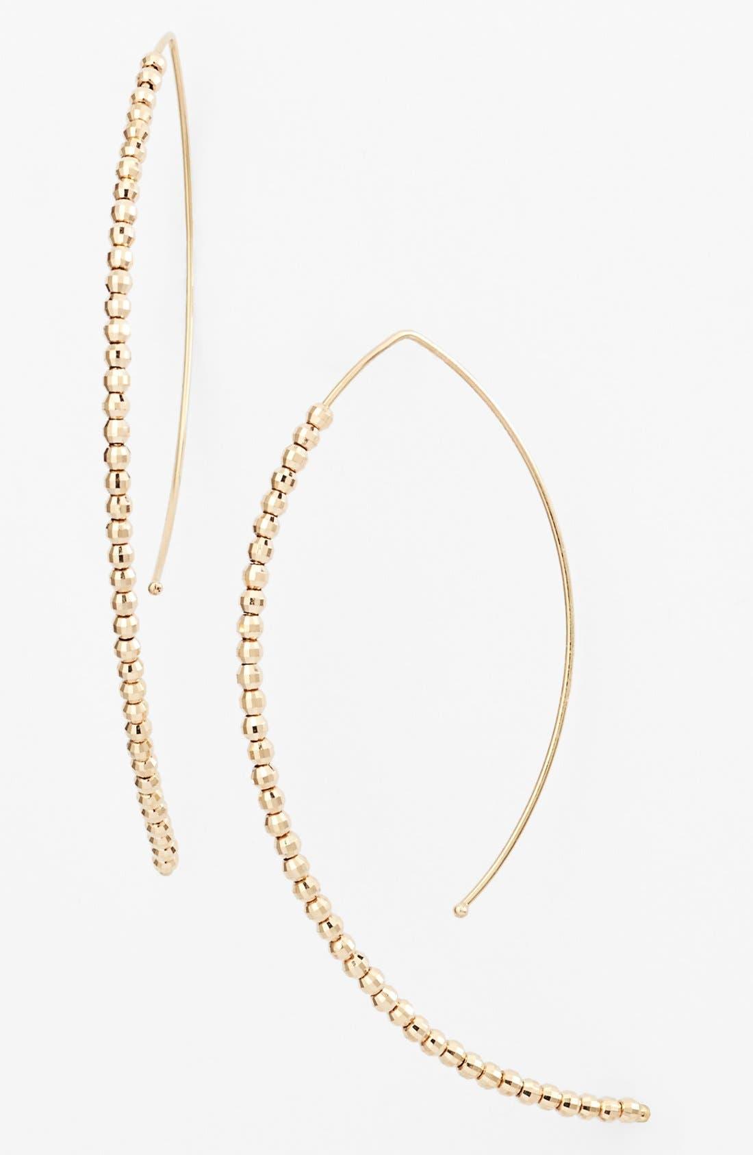 Main Image - Mizuki 'Cut Beads' Open Hoop Earrings
